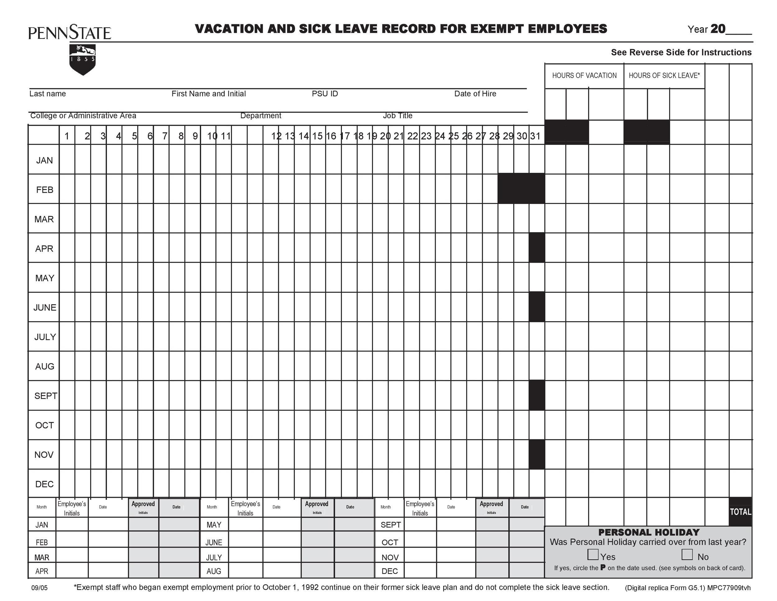 Free vacation tracker 49