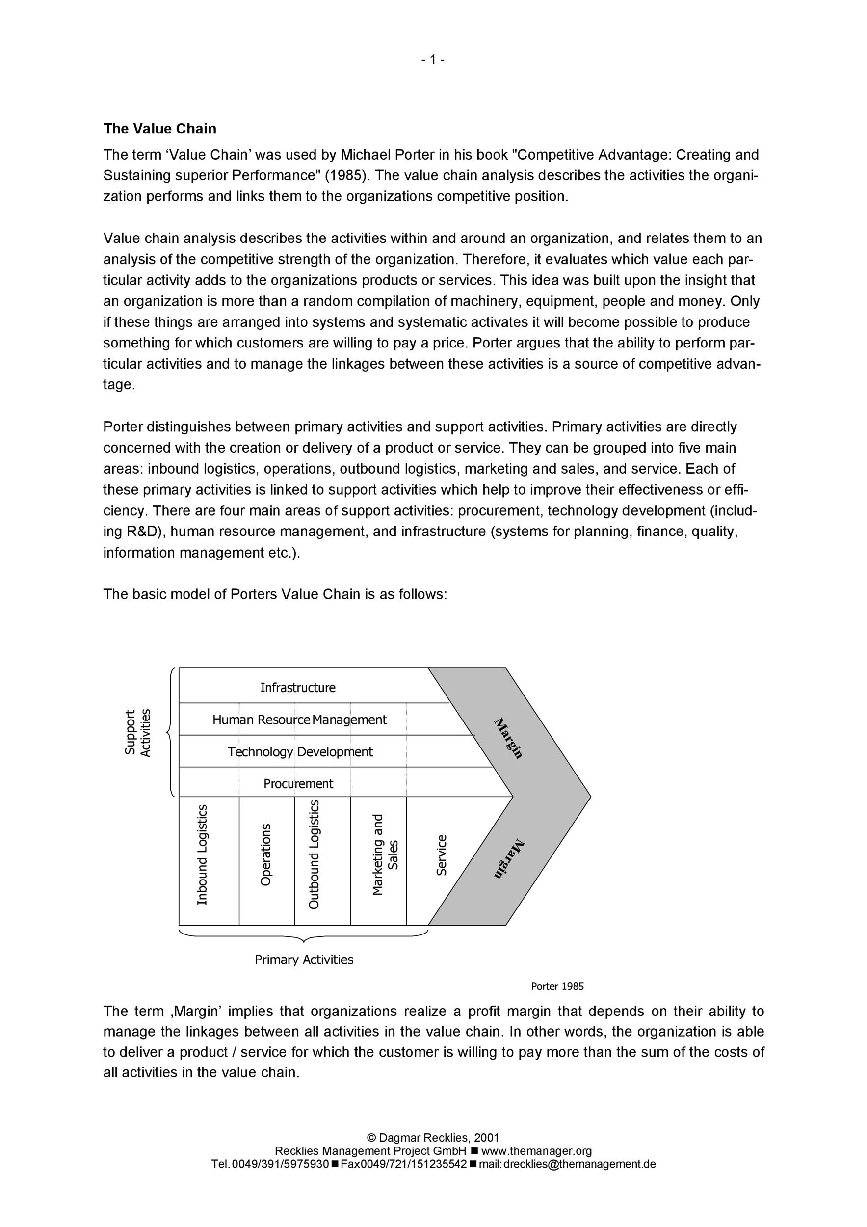 Free value chain analysis template 05
