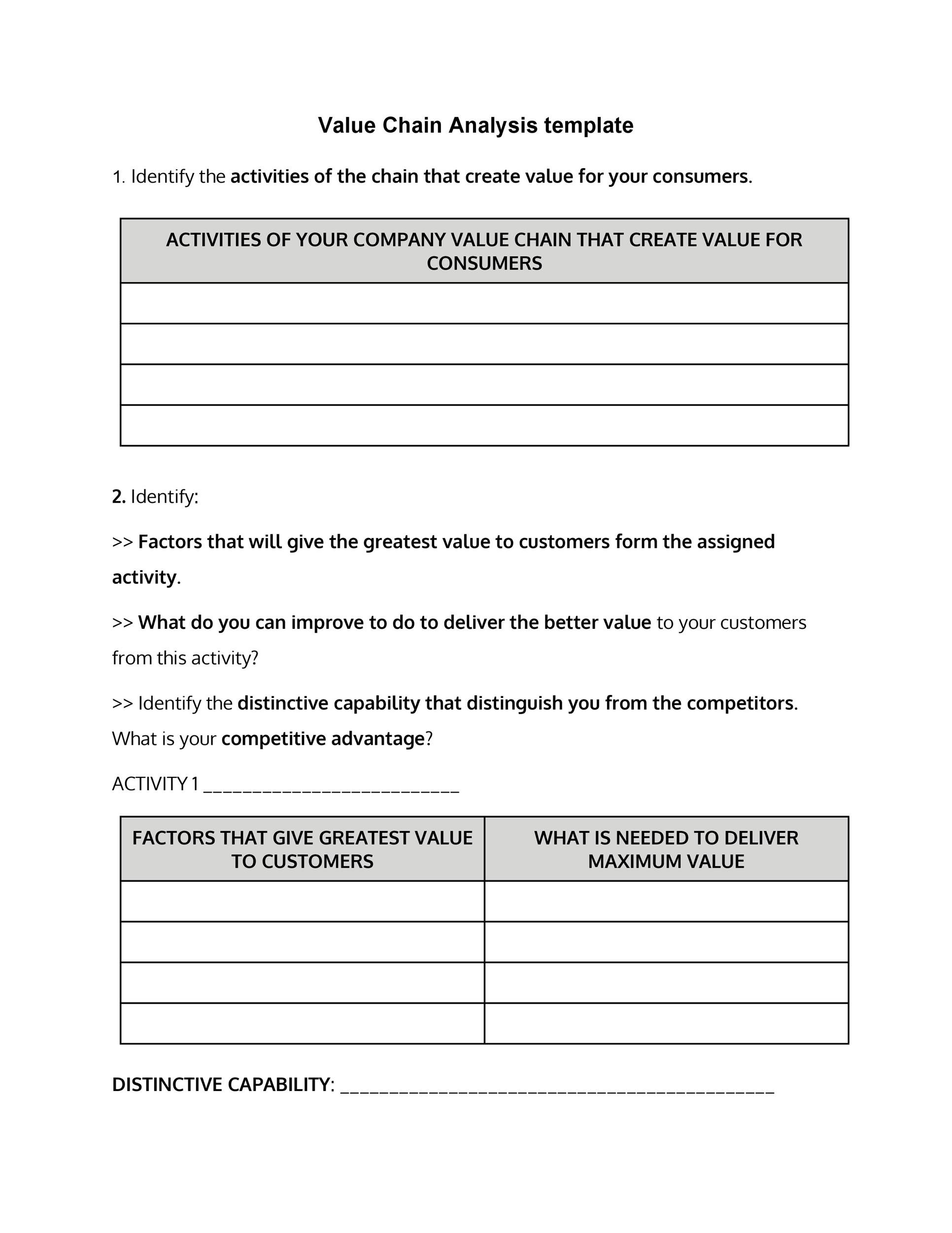 Free value chain analysis template 10
