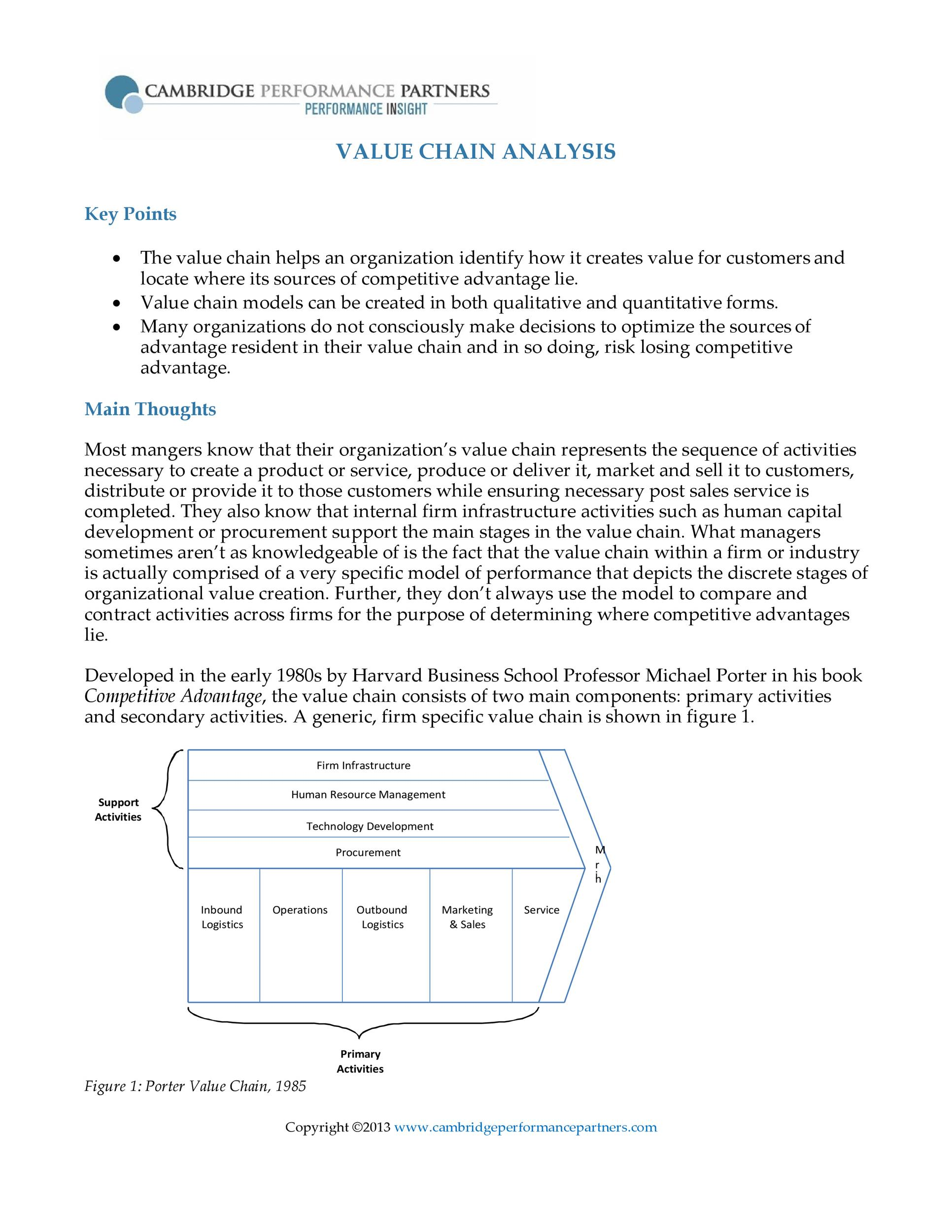 Free value chain analysis template 11