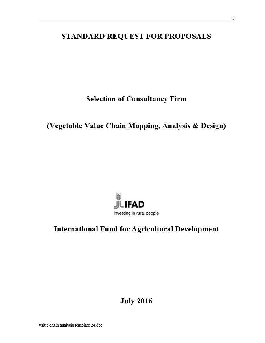 Free value chain analysis template 24
