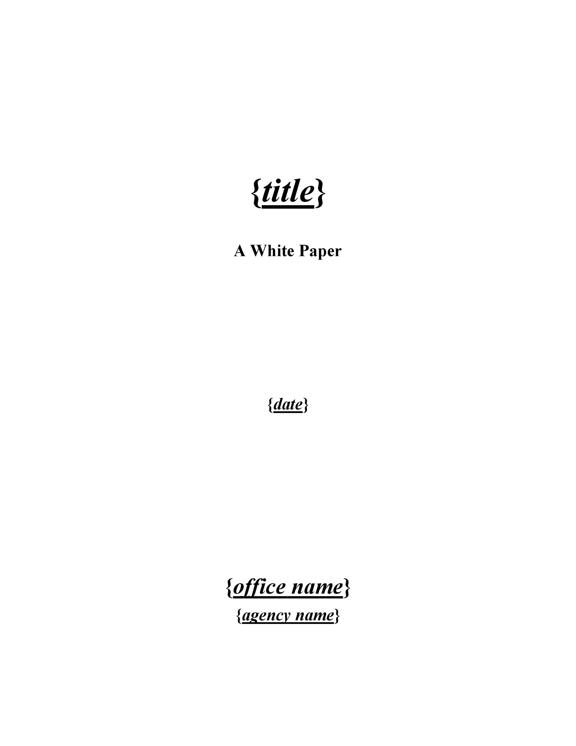 Free white paper template 05