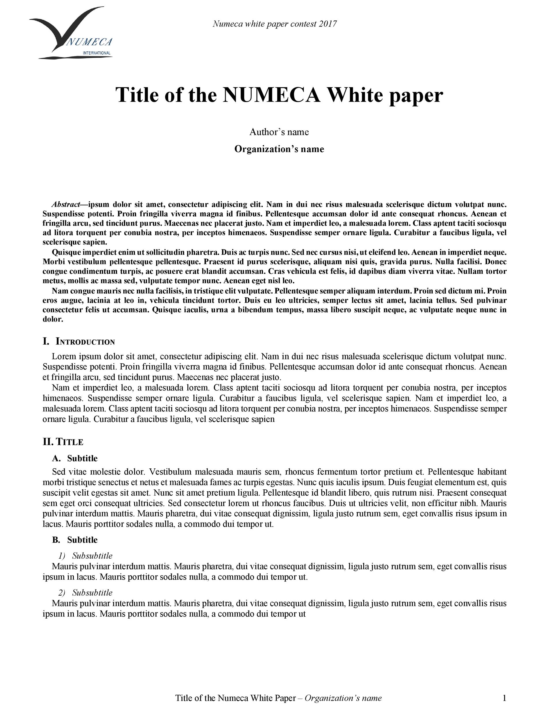 Free white paper template 06