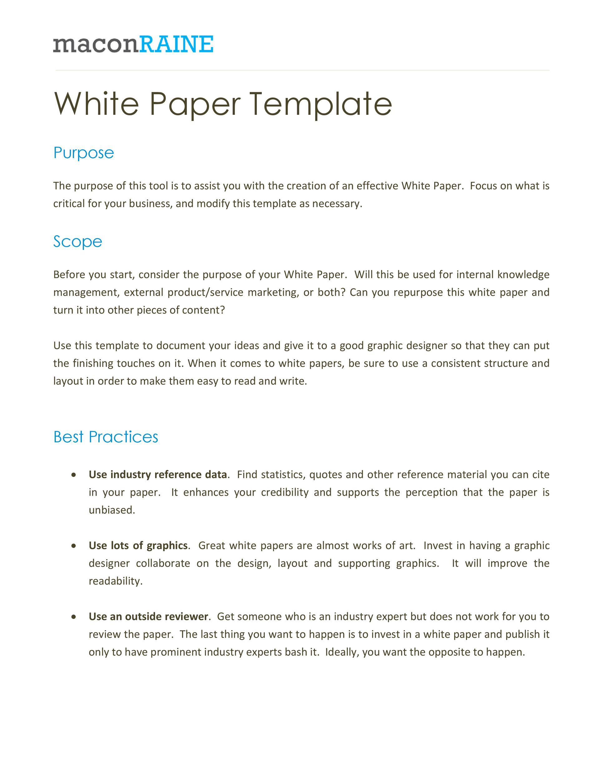Free white paper template 09