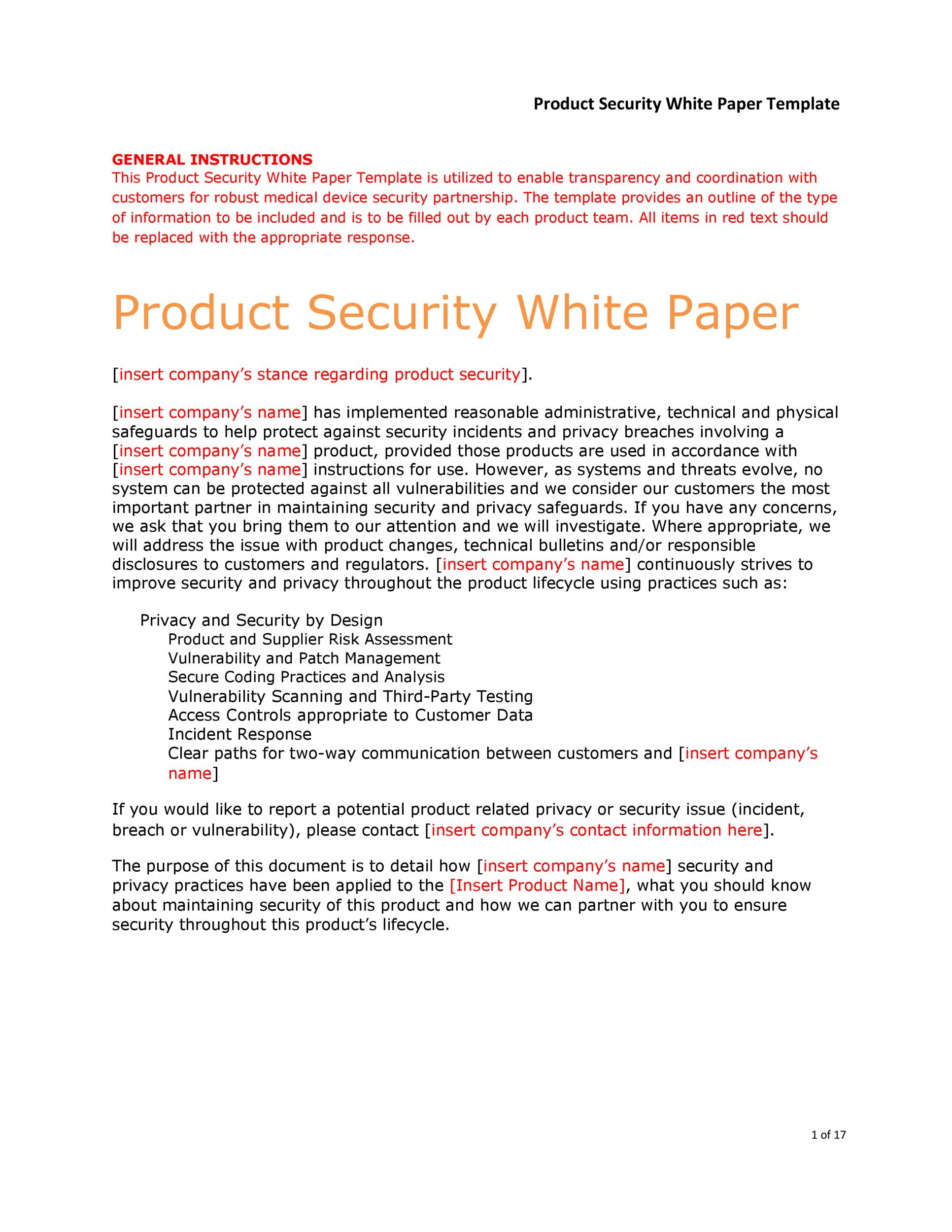 Free white paper template 10
