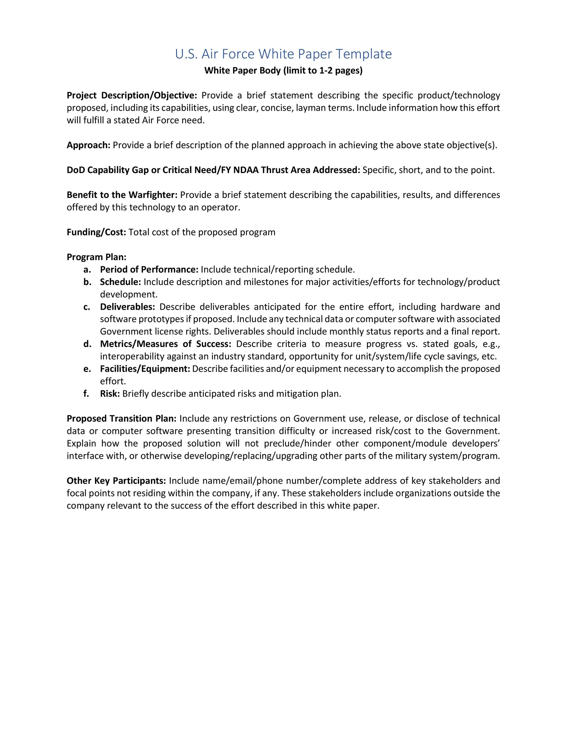 Free white paper template 11