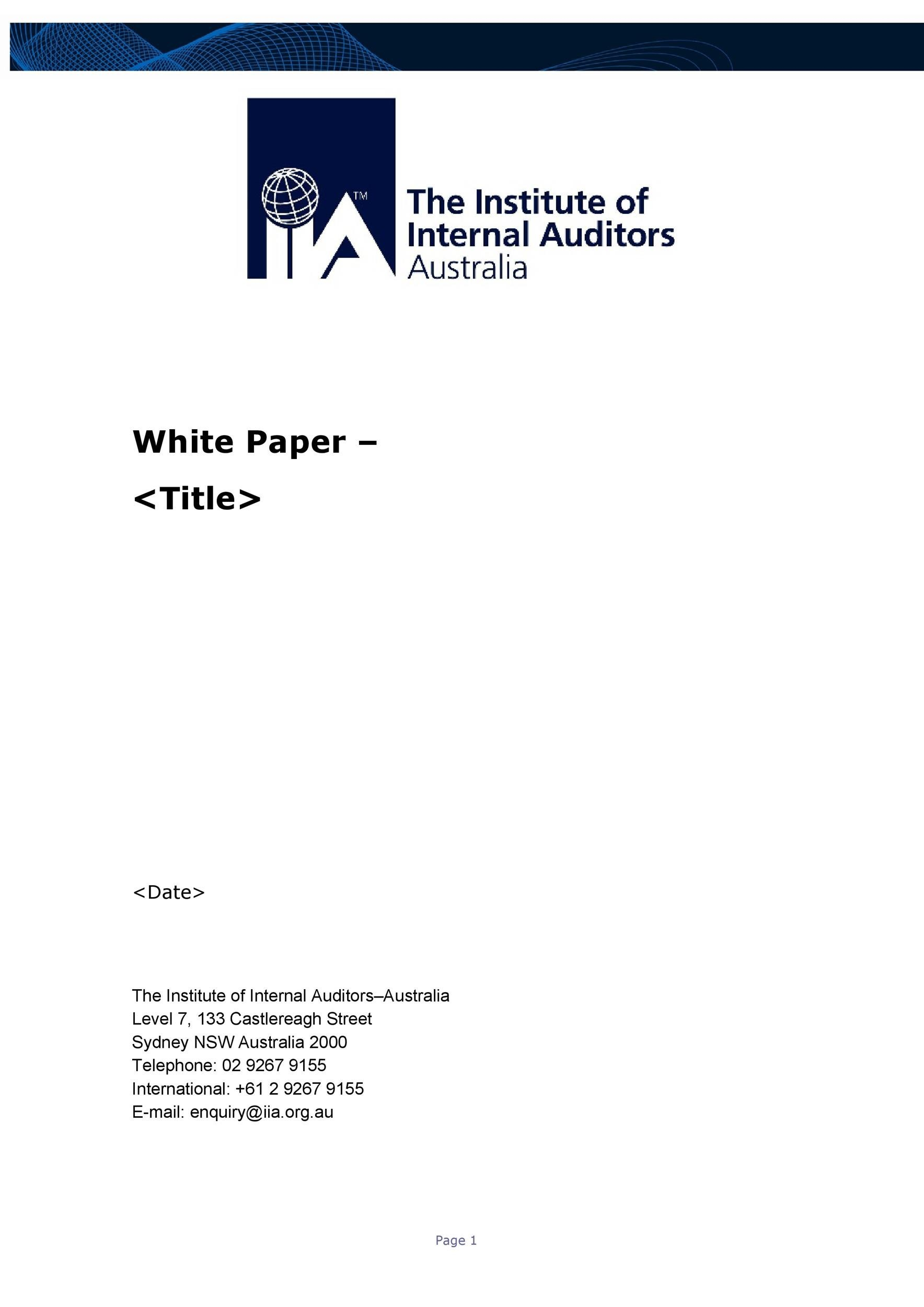 Free white paper template 13