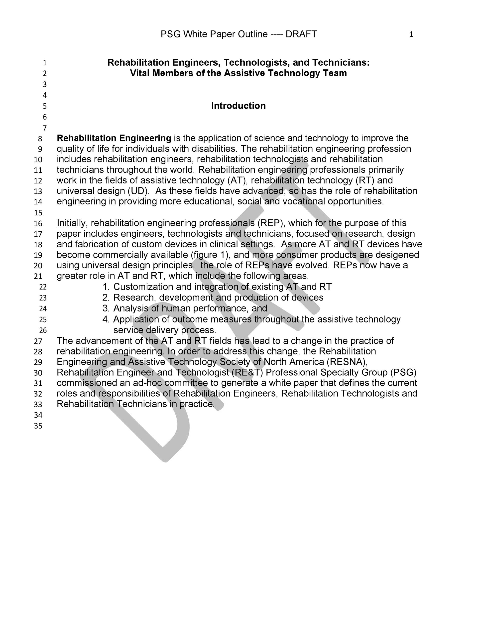 Free white paper template 17