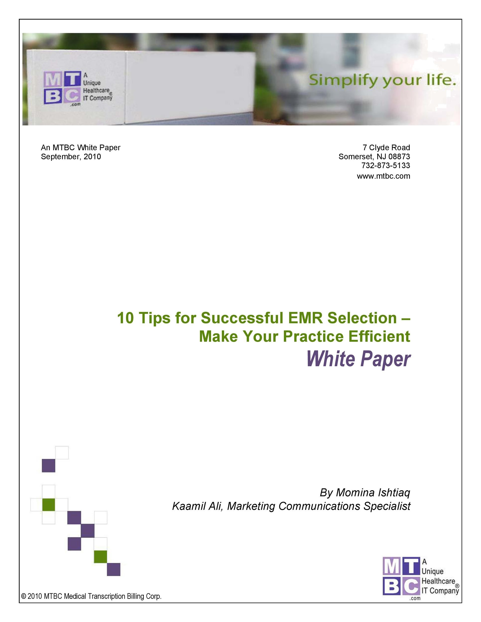 Free white paper template 33