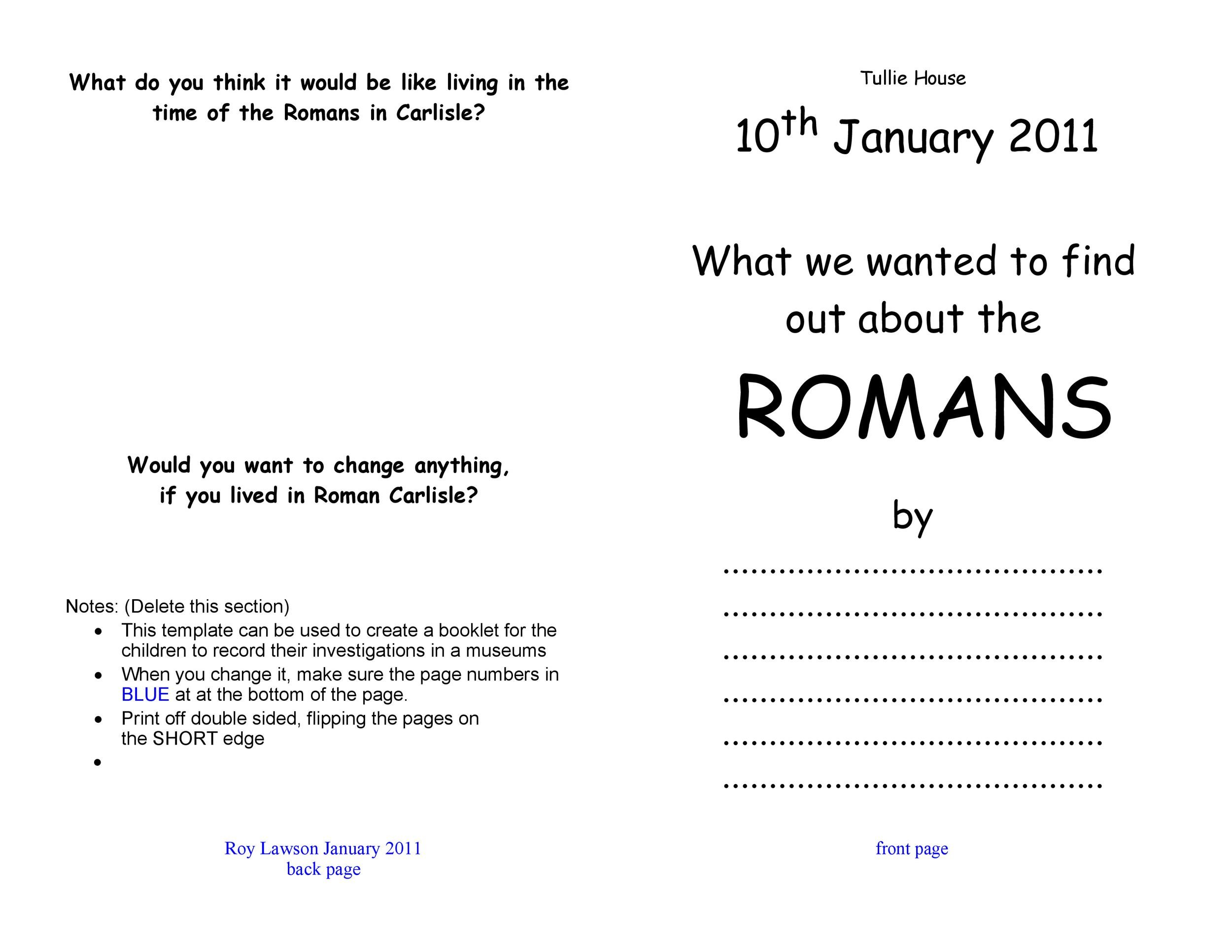 Free booklet template 15