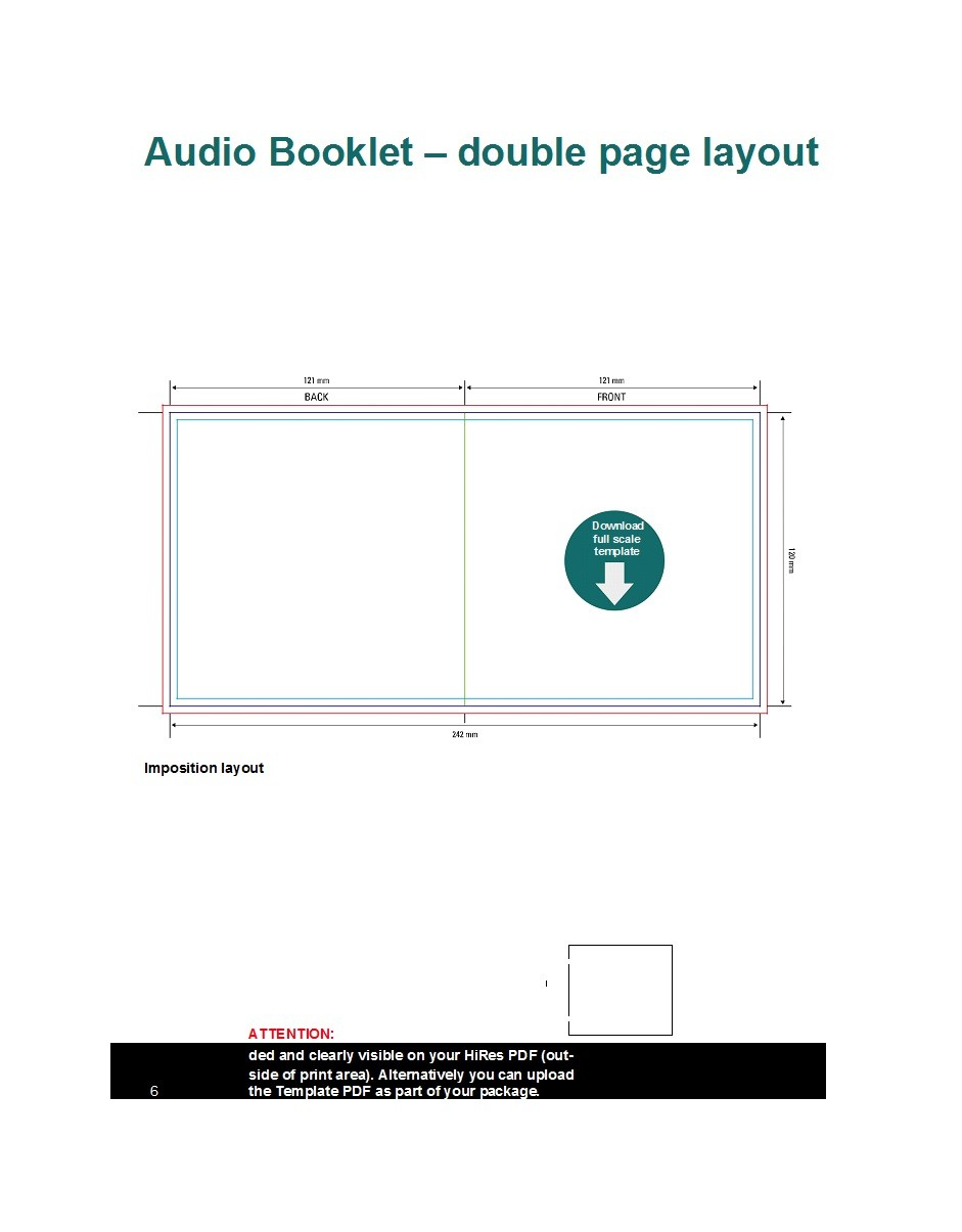 Free booklet template 16