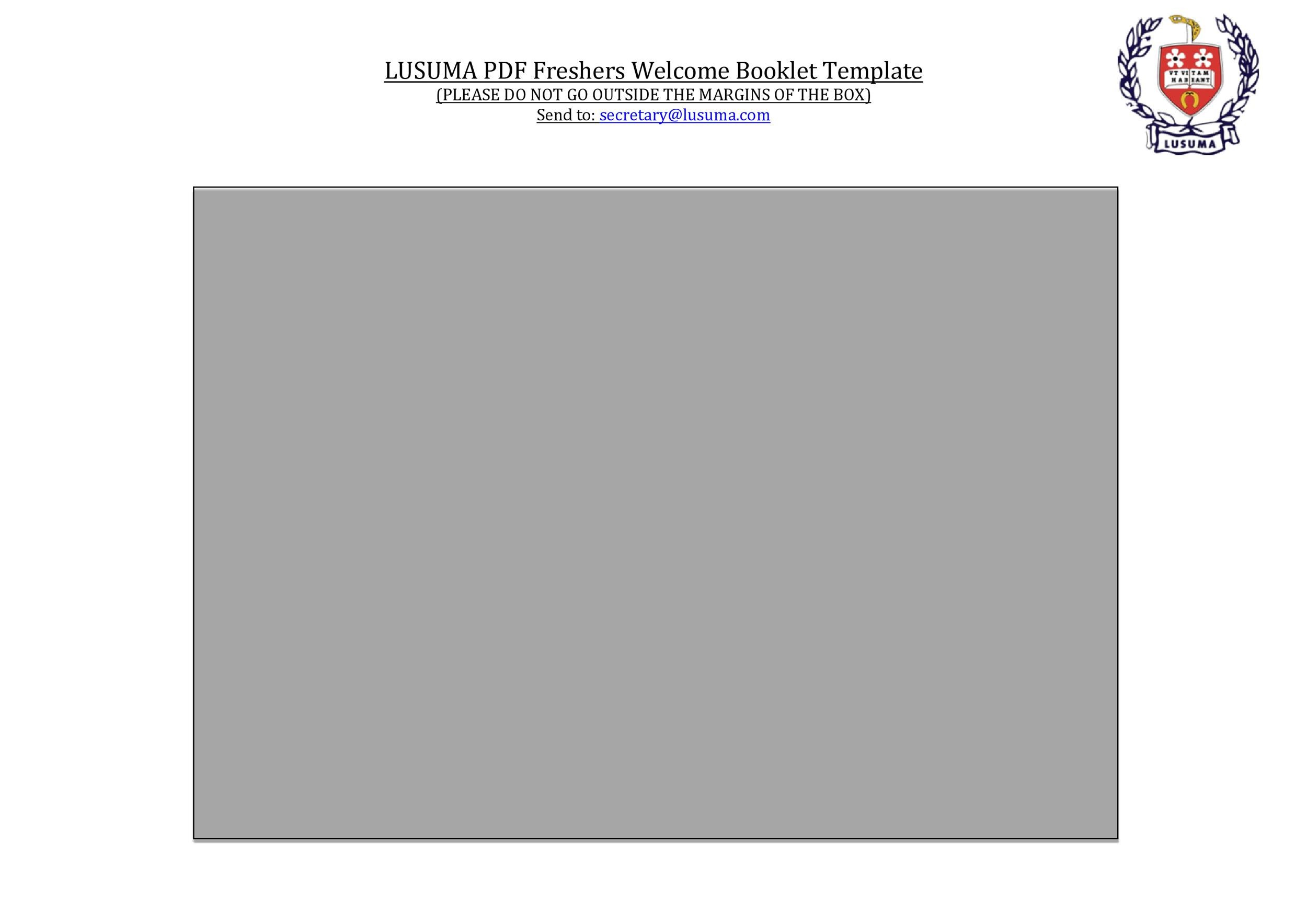 Free booklet template 17