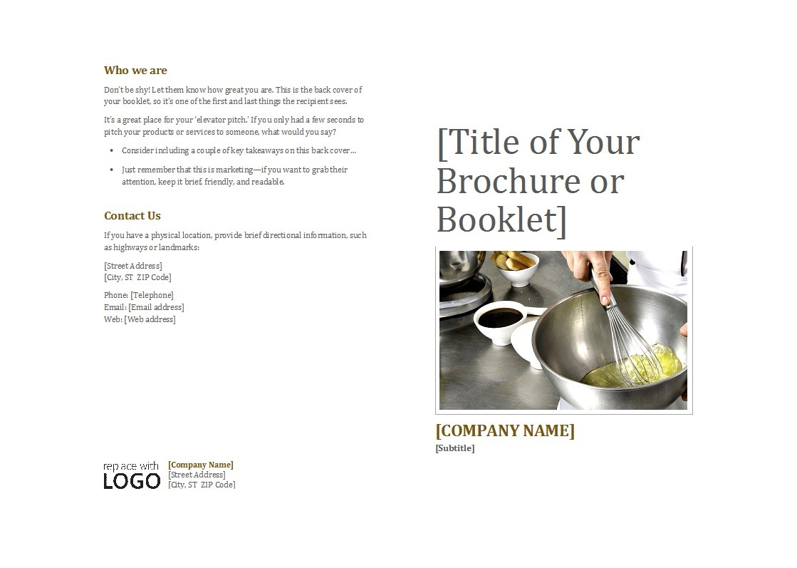 Free booklet template 30