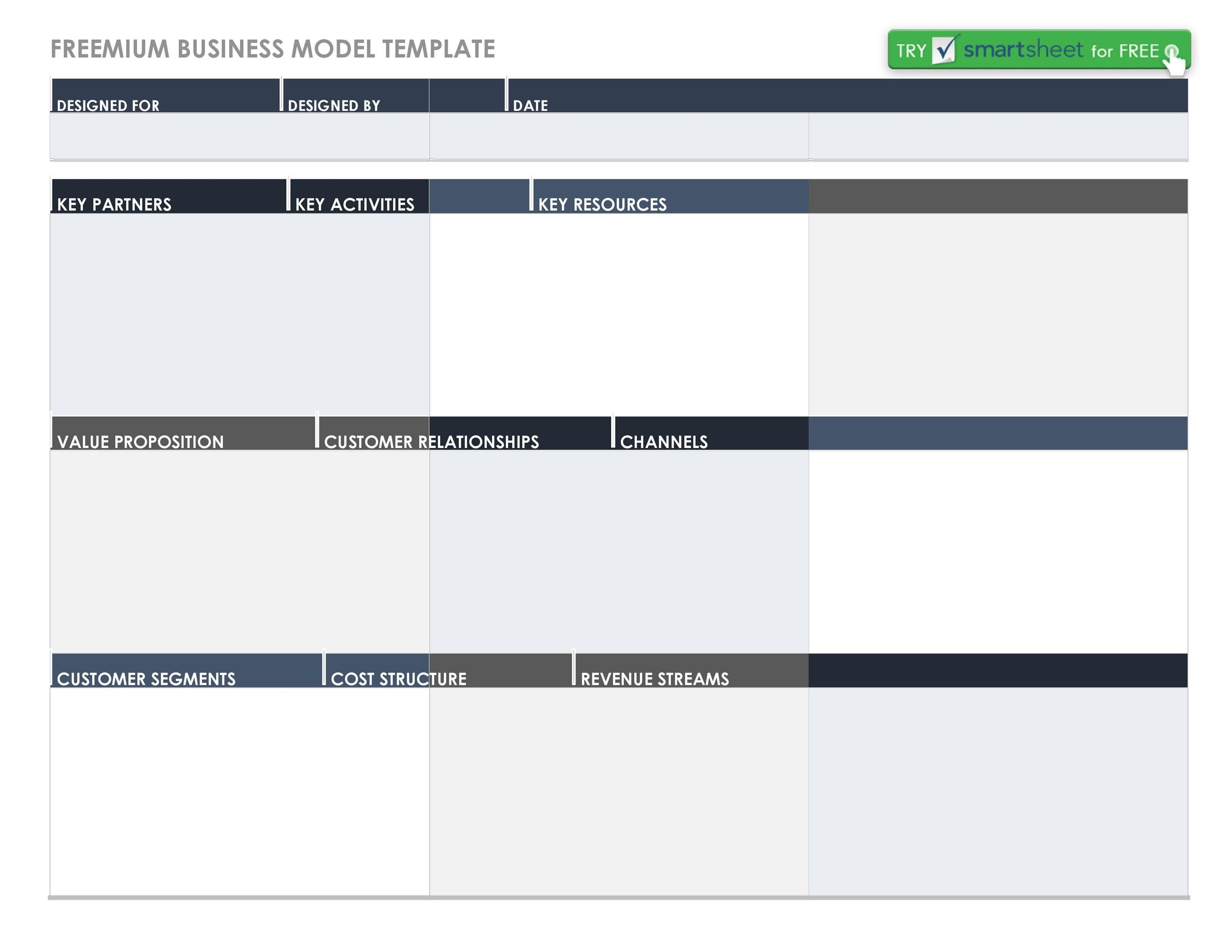 Free business model template 01