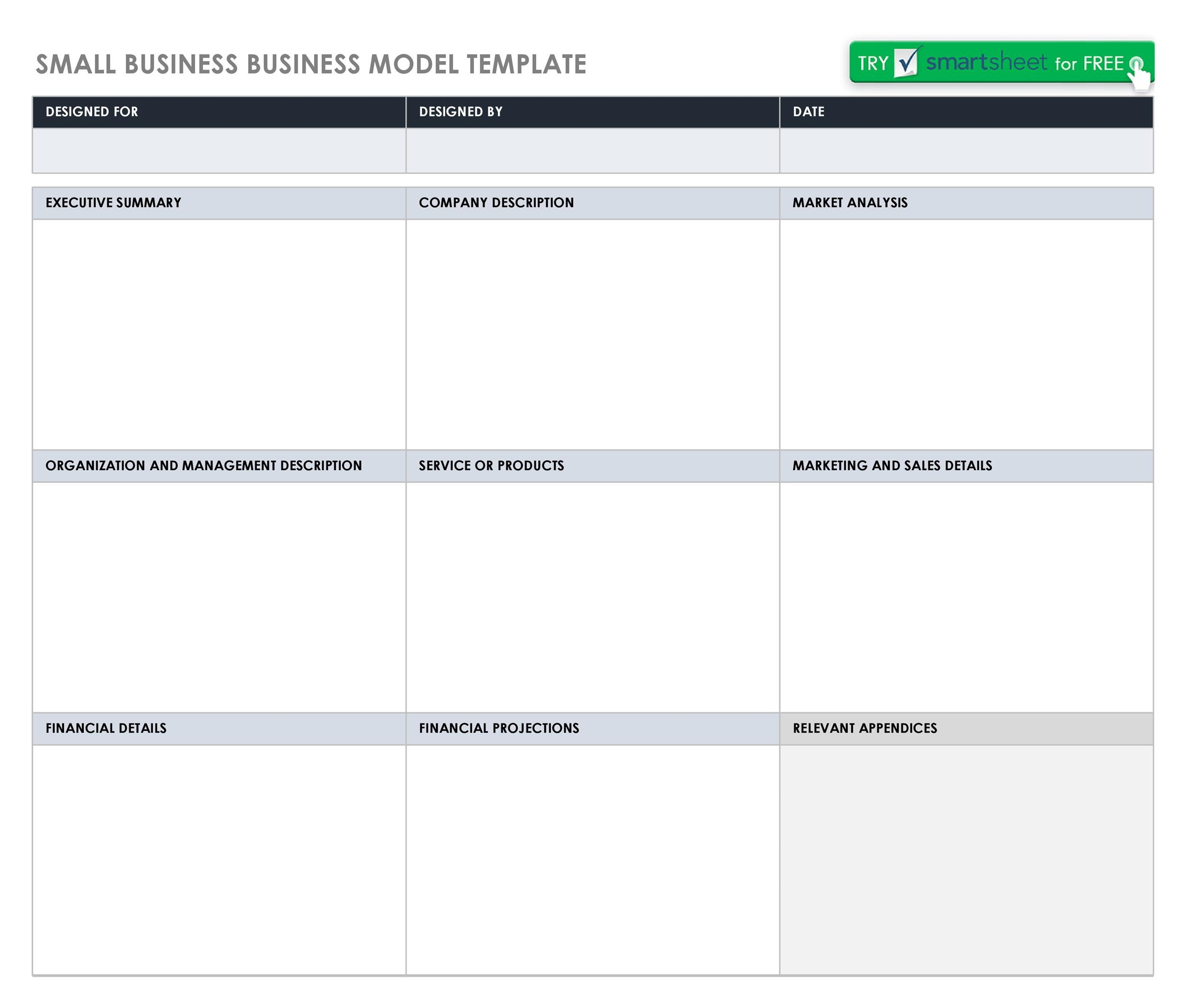 Free business model template 09