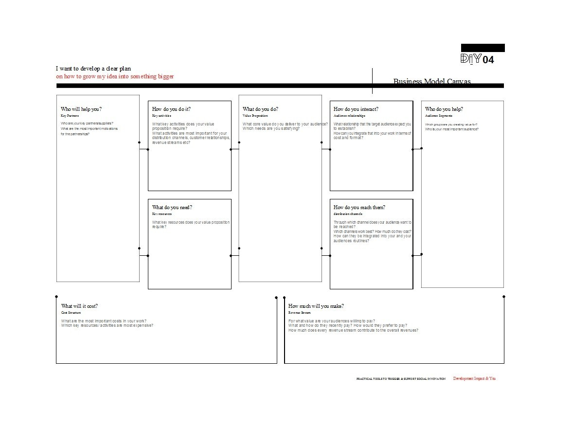 Free business model template 11
