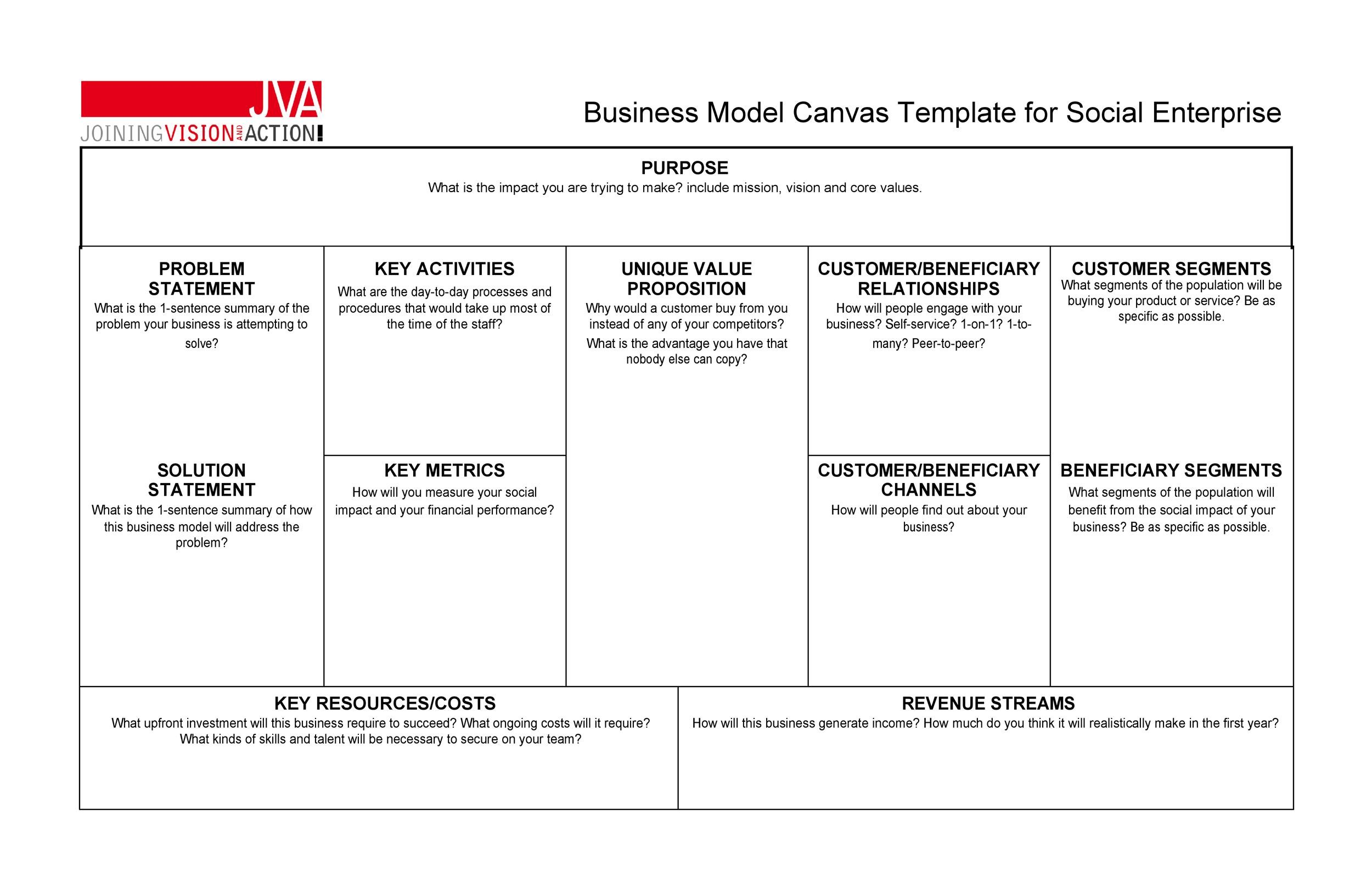 Free business model template 12
