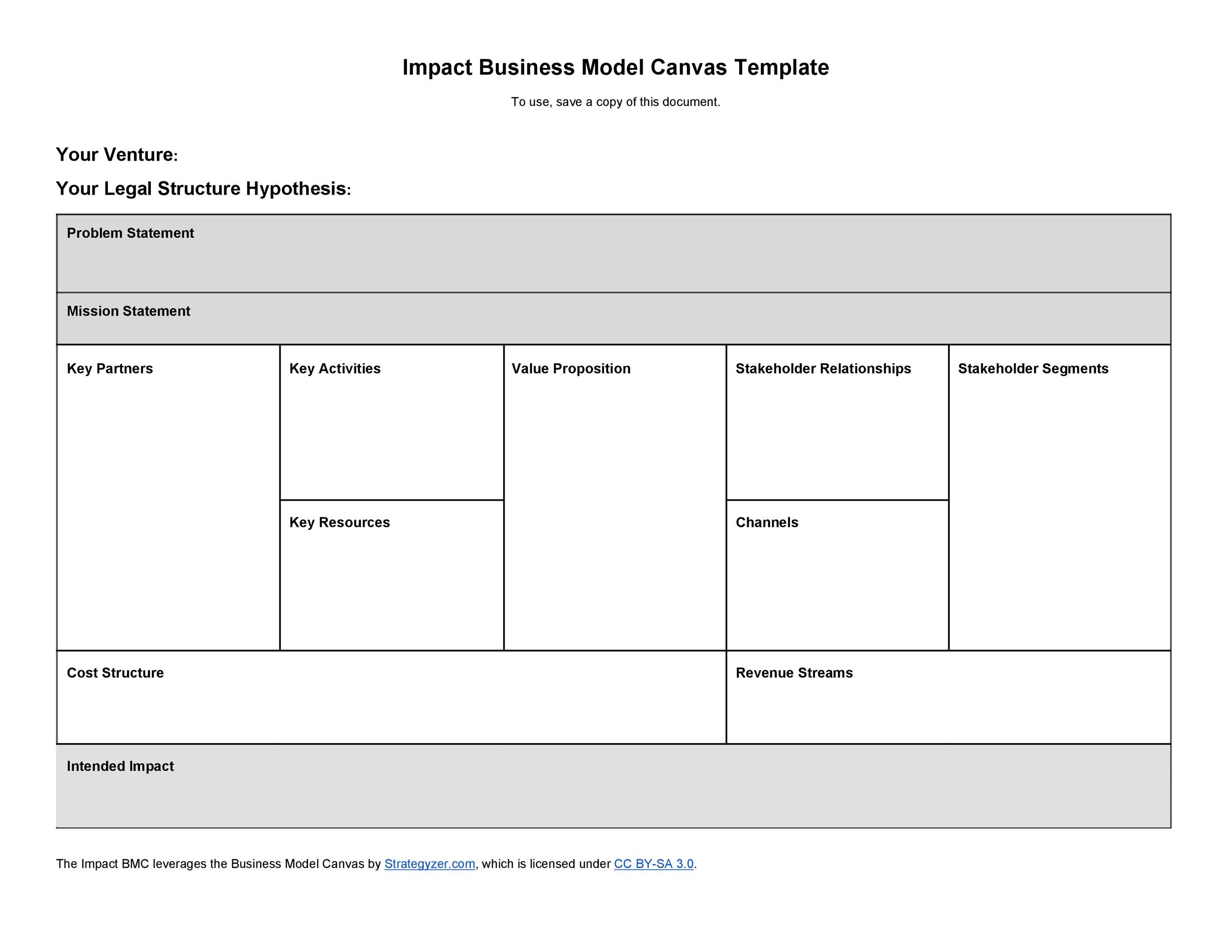 Free business model template 18