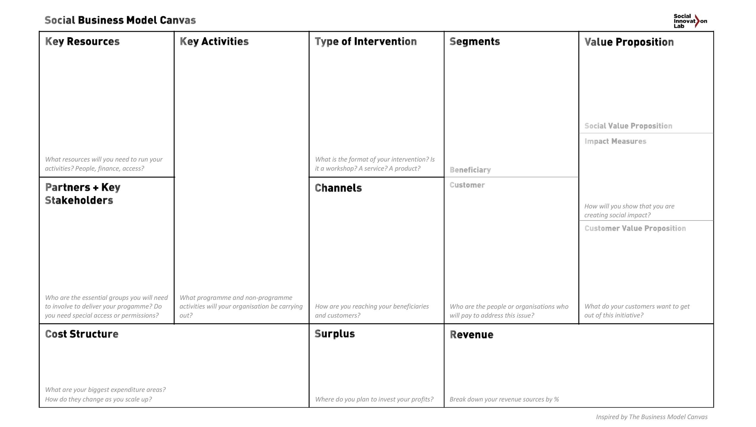 Free business model template 24