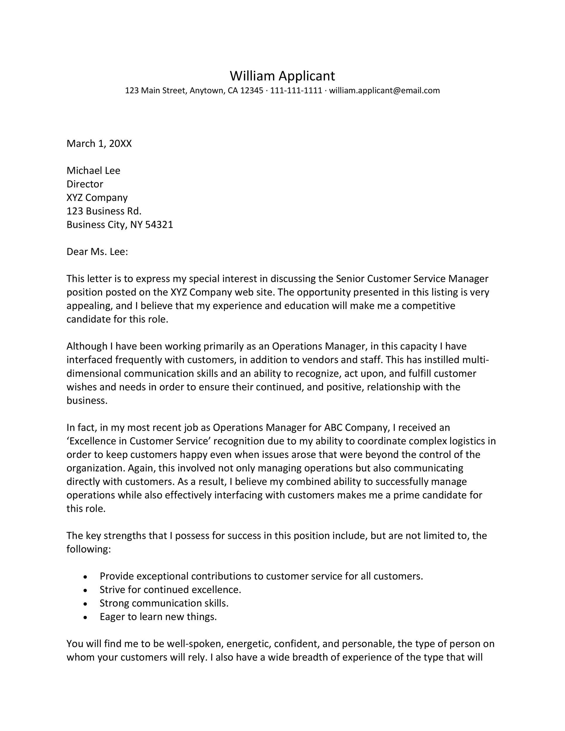Free career change cover letter 05