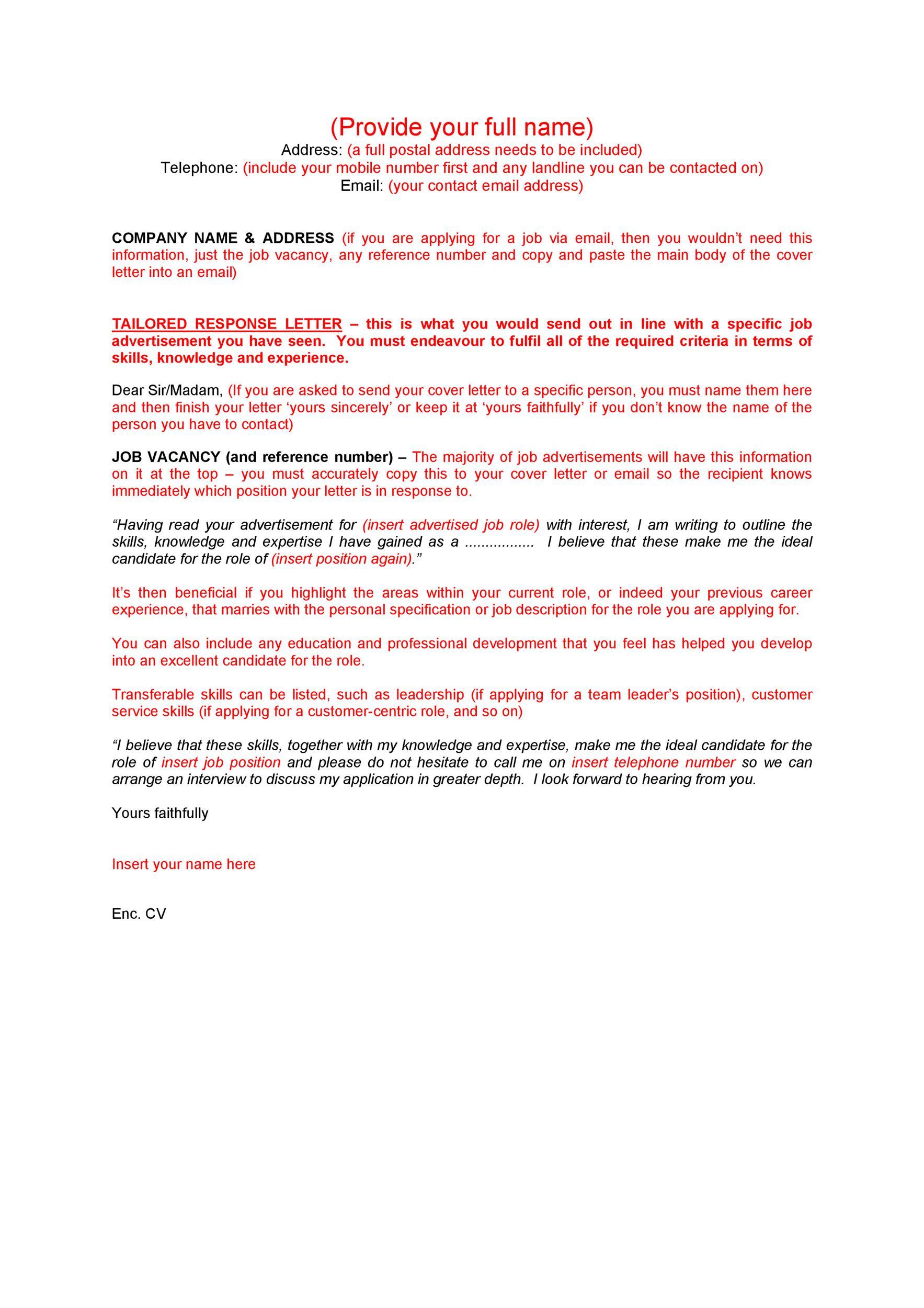 Free career change cover letter 31