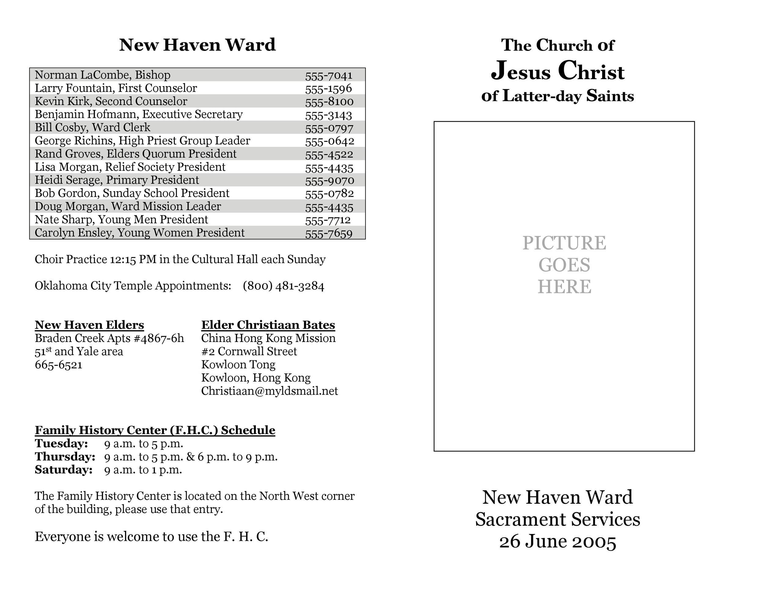 Free church bulletin templates 01