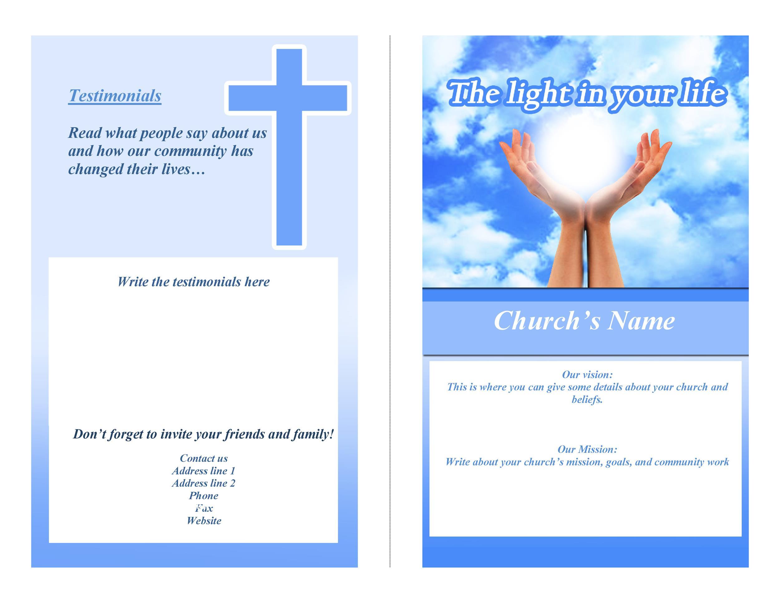 Free Church Programs Template from templatelab.com