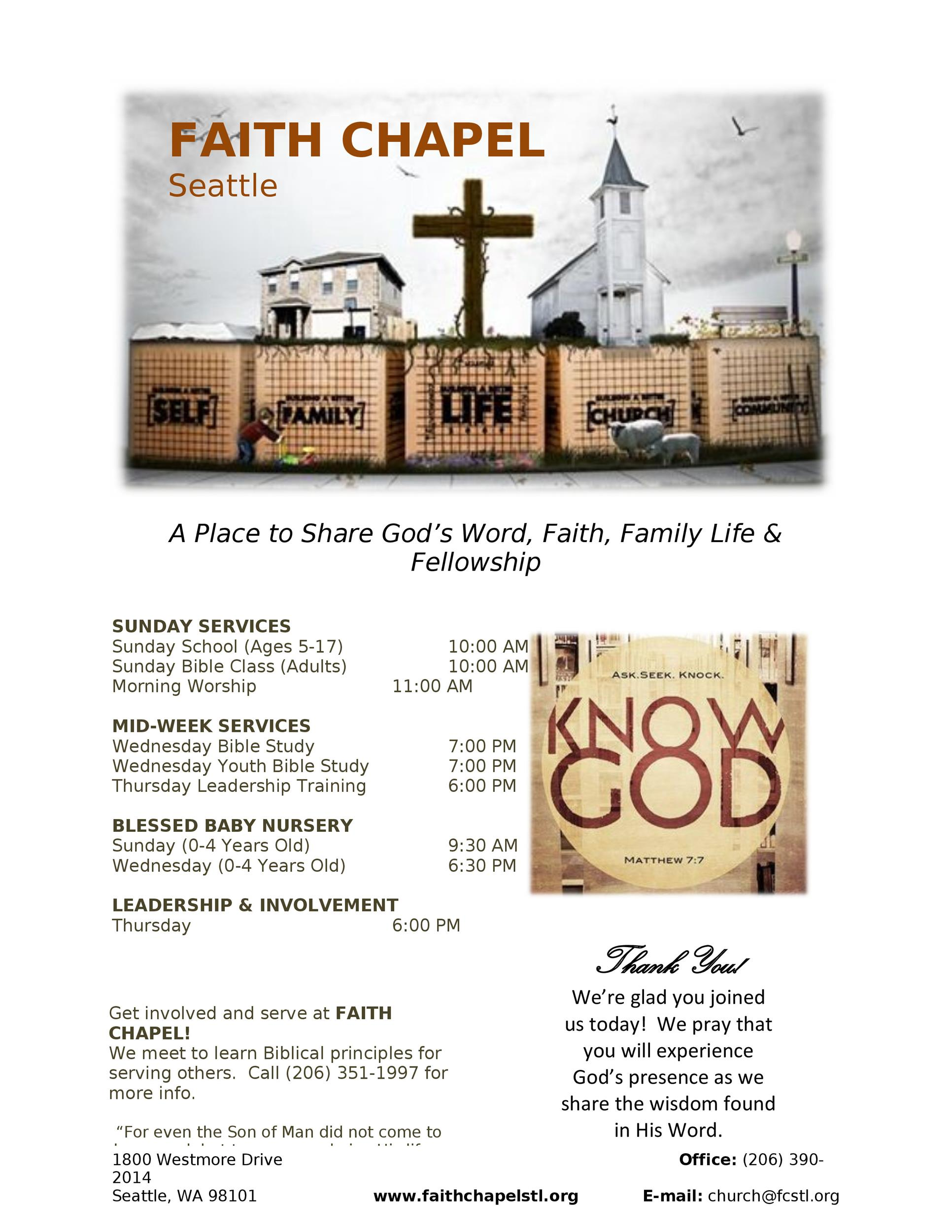 Free church bulletin templates 07