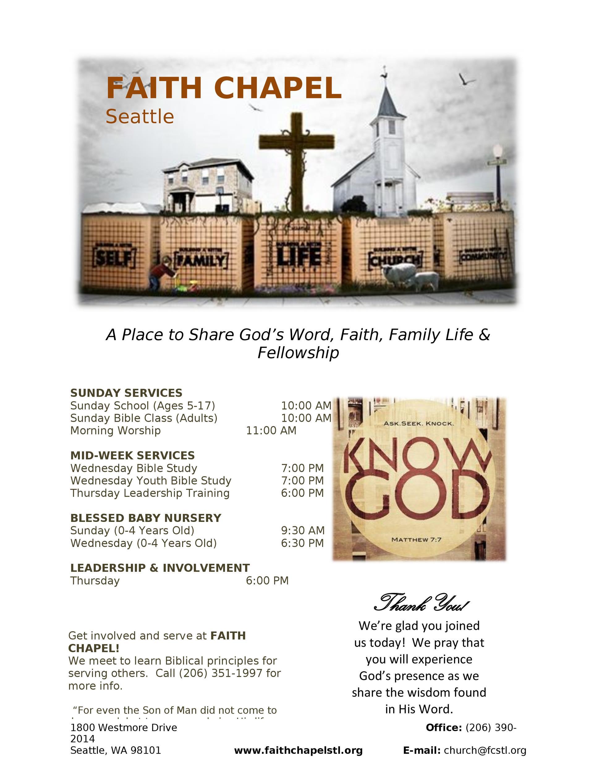Free church bulletin templates 07