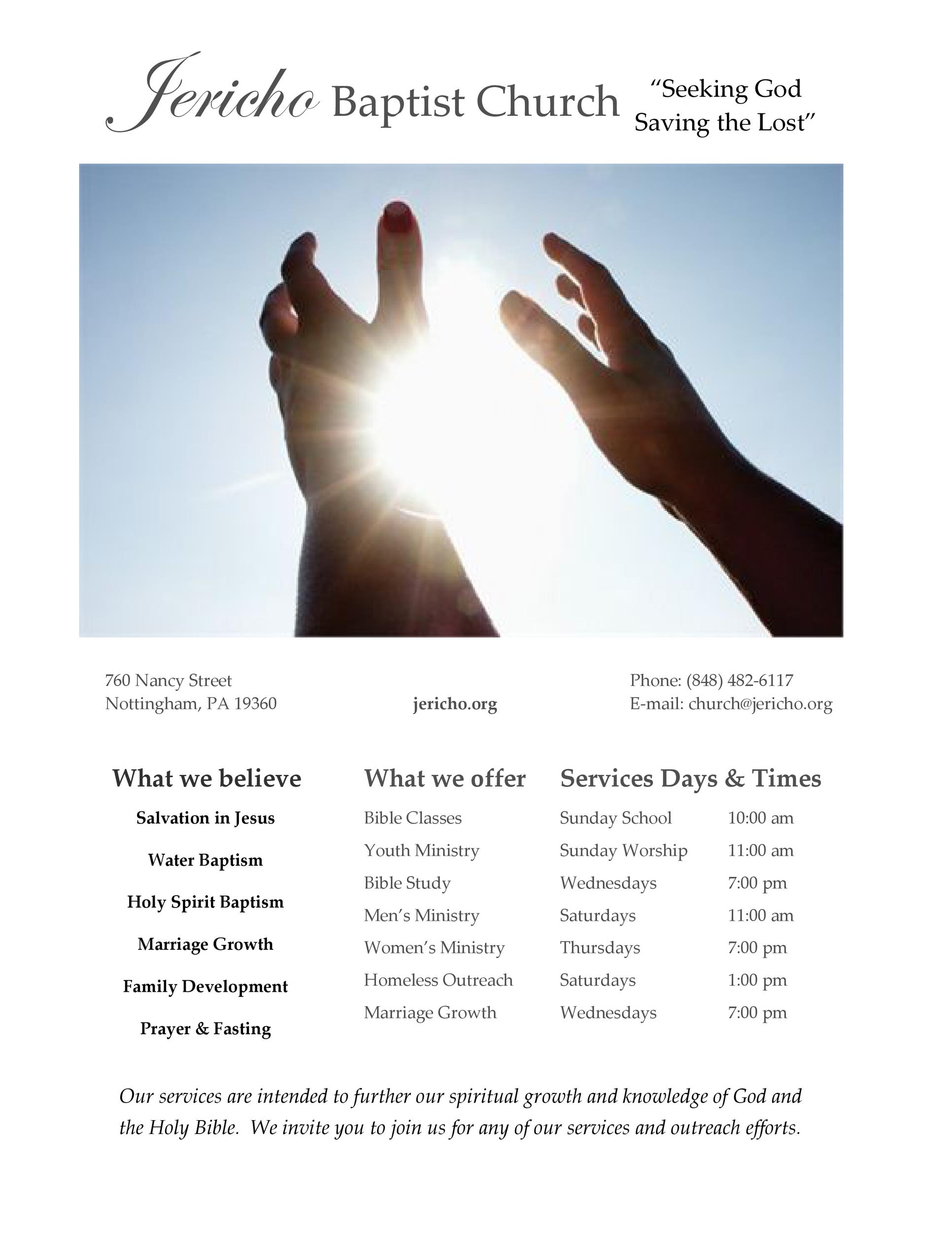Free church bulletin templates 08