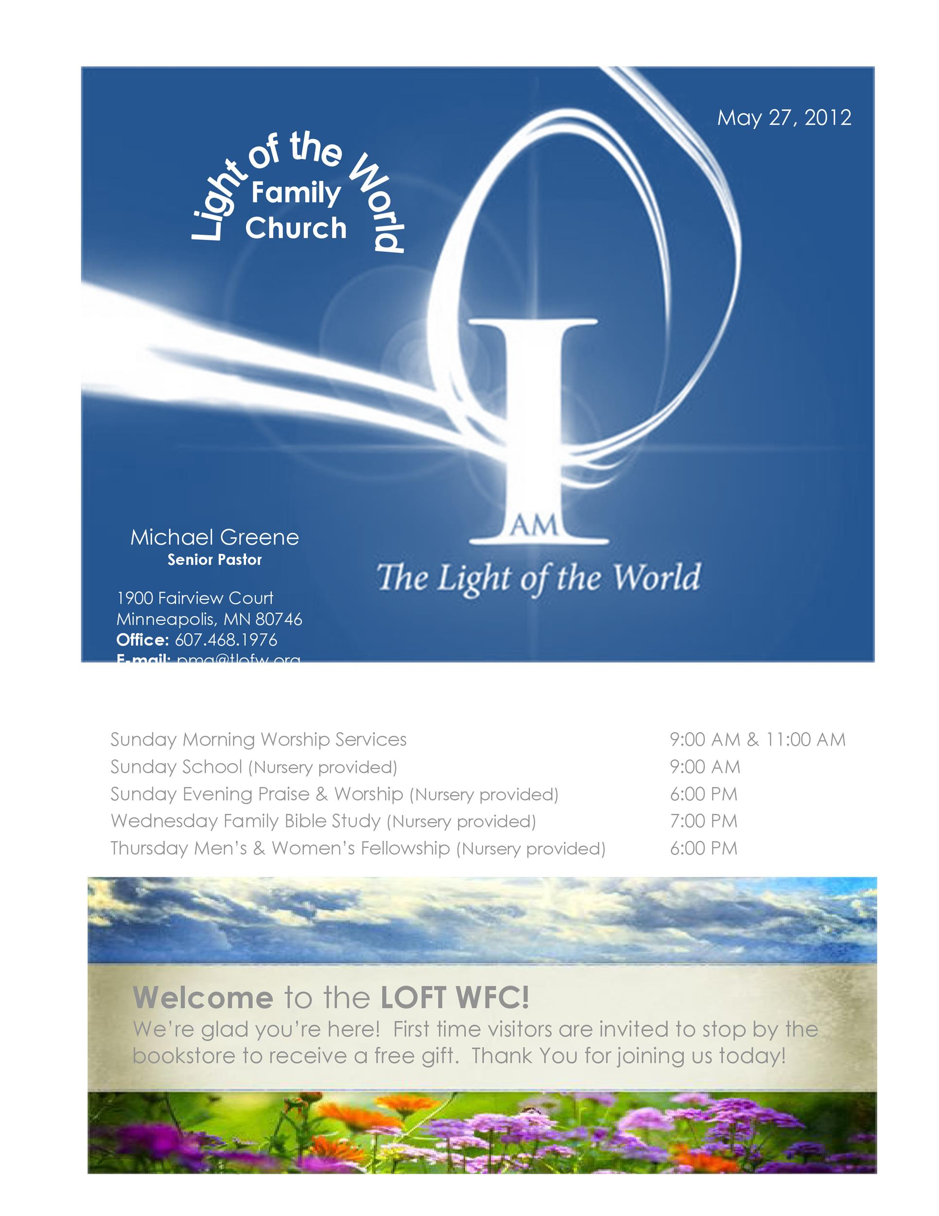 Free church bulletin templates 09