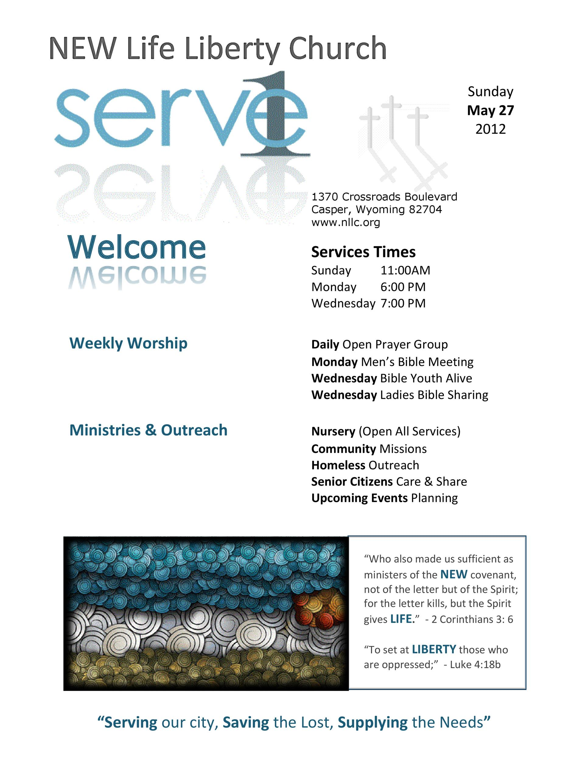 Free church bulletin templates 11