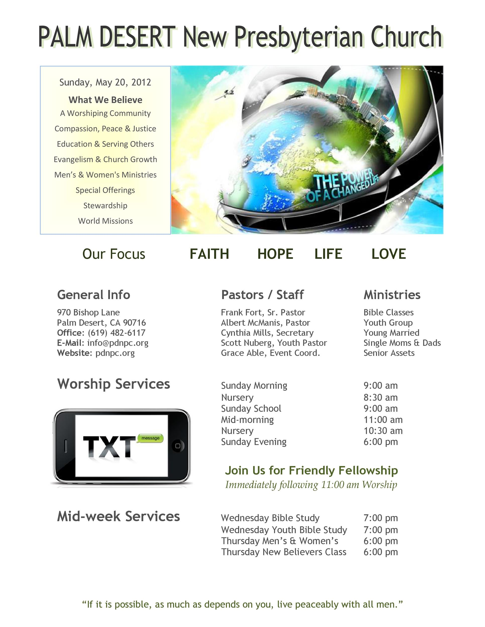 Free church bulletin templates 12