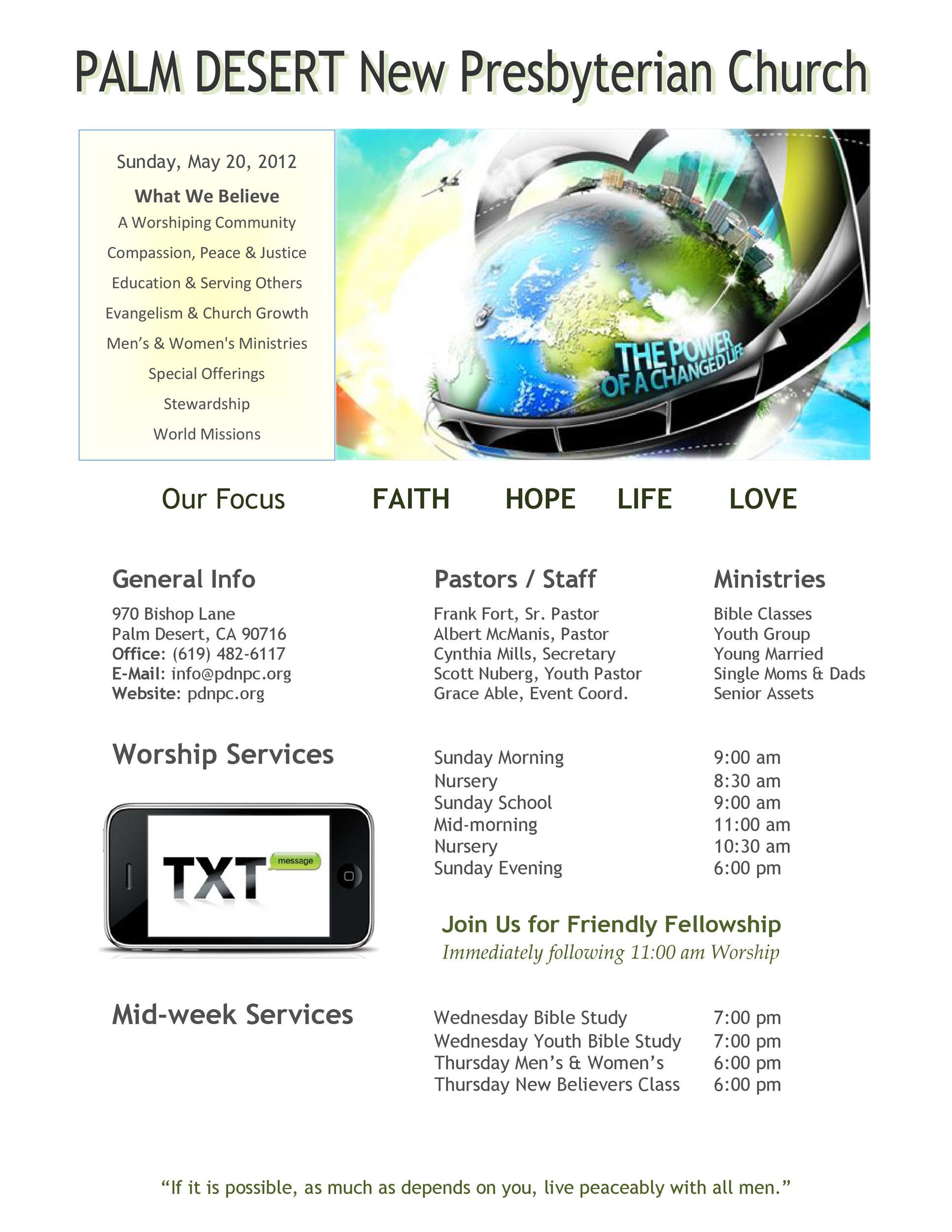 Free church bulletin templates 12