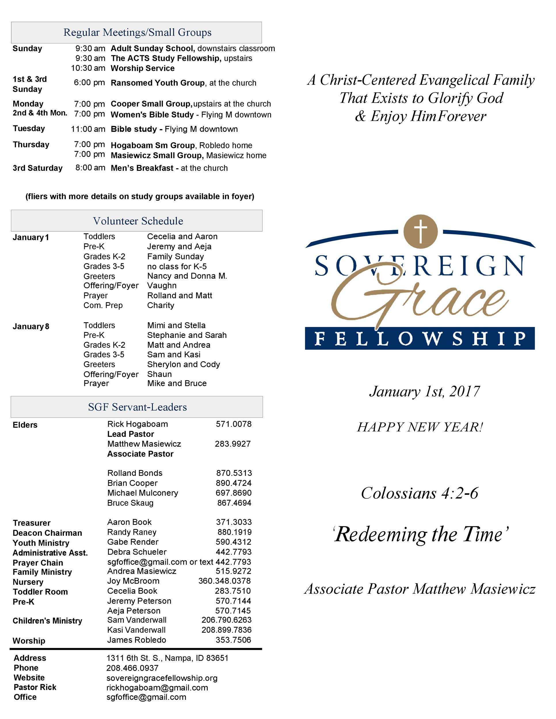 Free church bulletin templates 15
