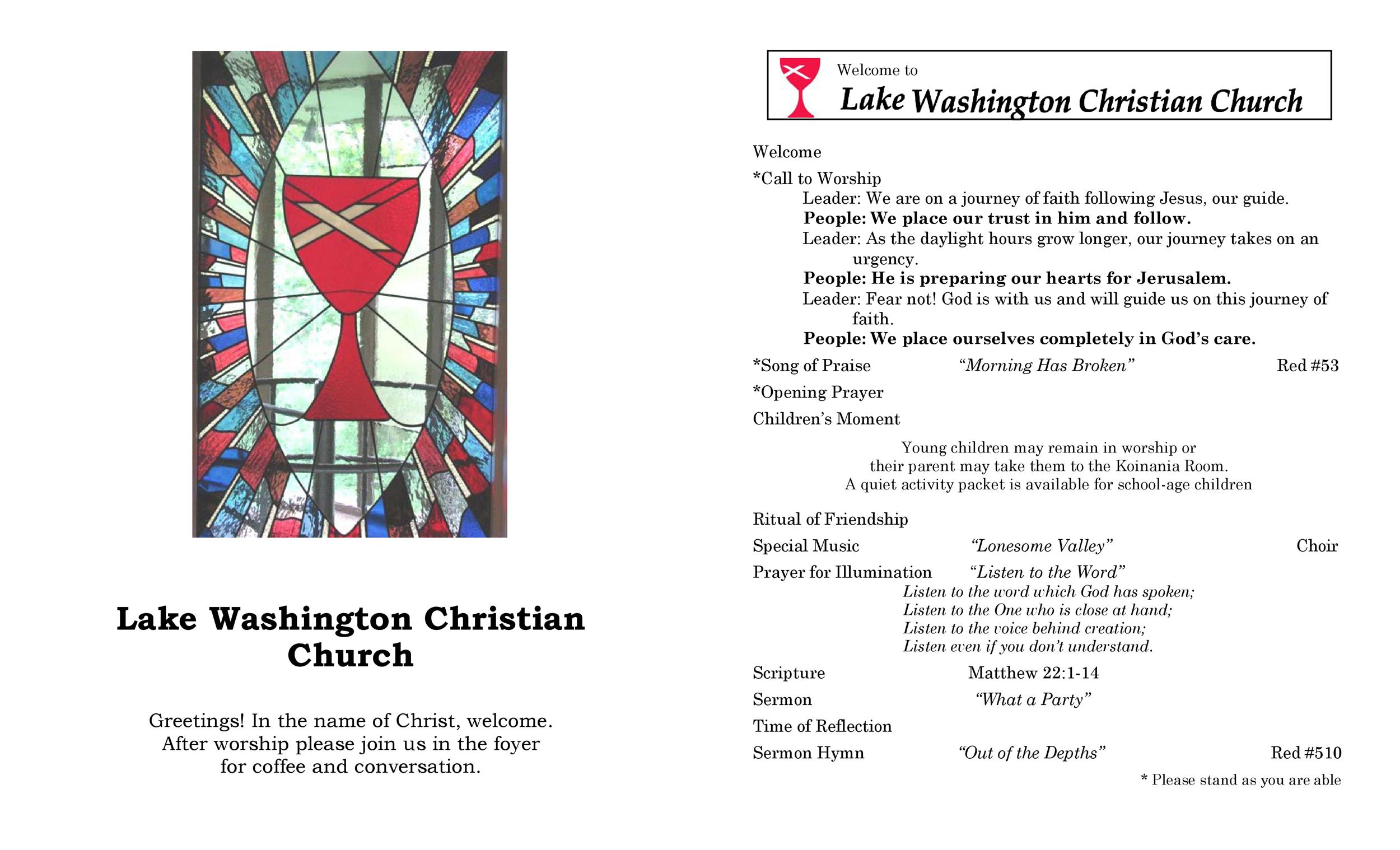 Free church bulletin templates 17