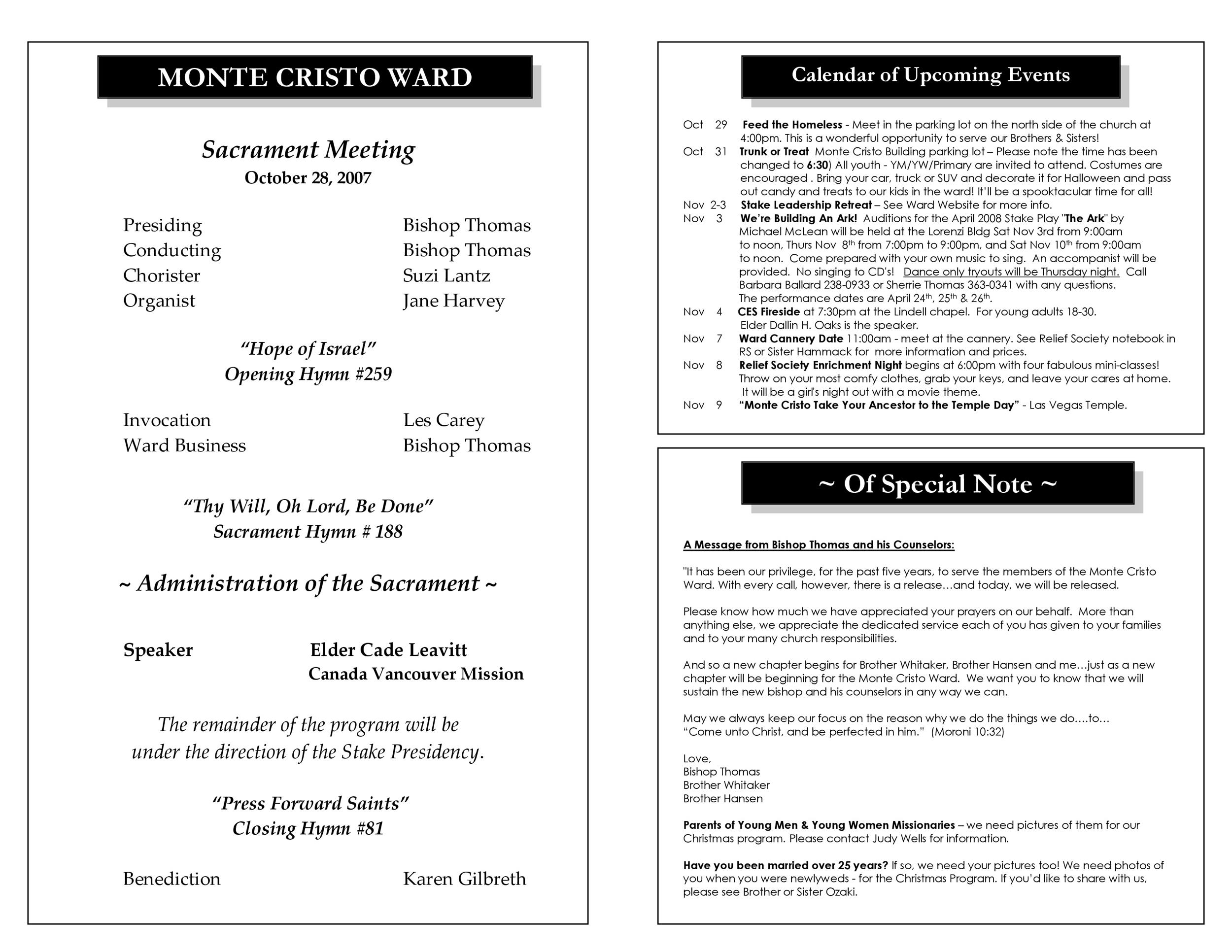 Free church bulletin templates 18