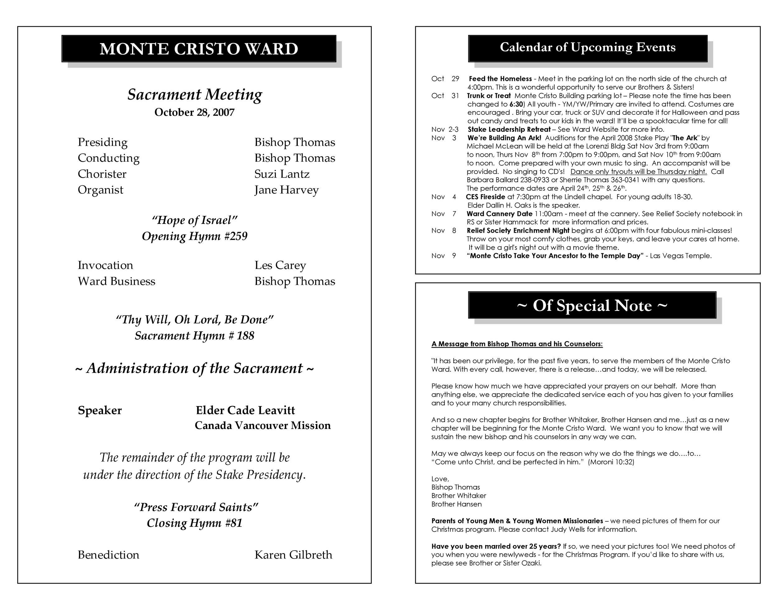 Free church bulletin templates 18