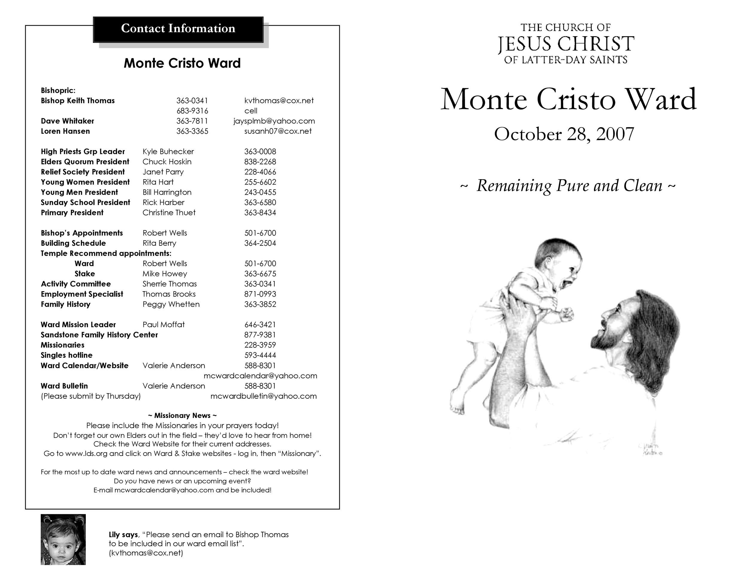 Free church bulletin templates 19