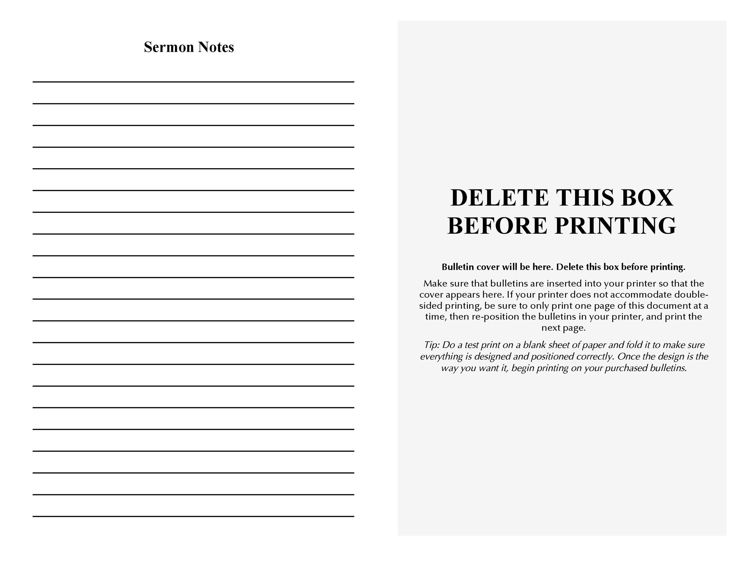 Free church bulletin templates 21