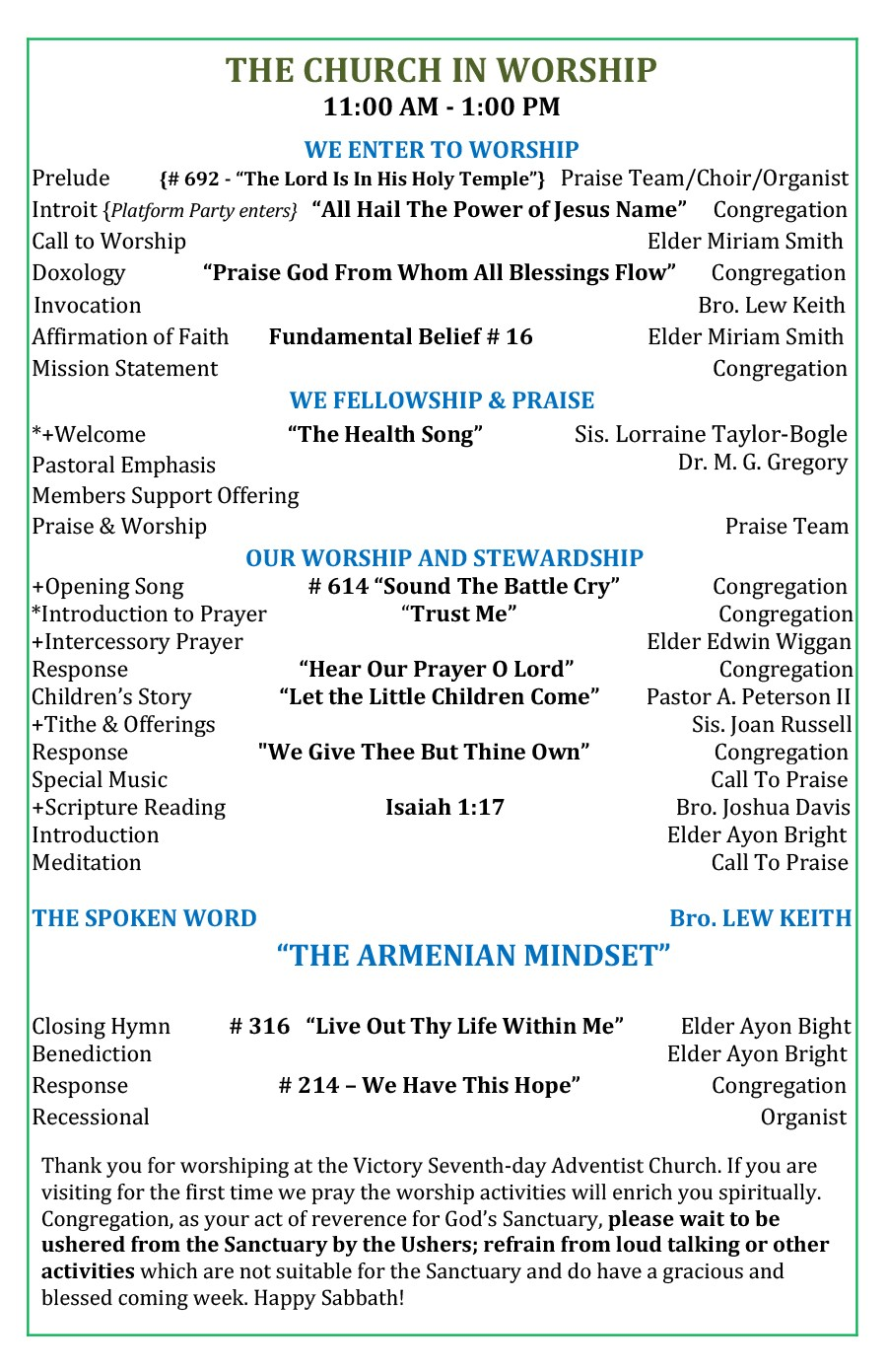 Free church bulletin templates 22