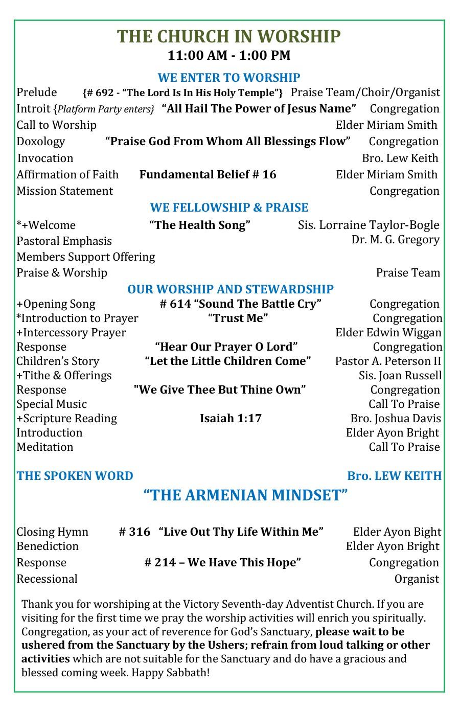 Free church bulletin templates 22