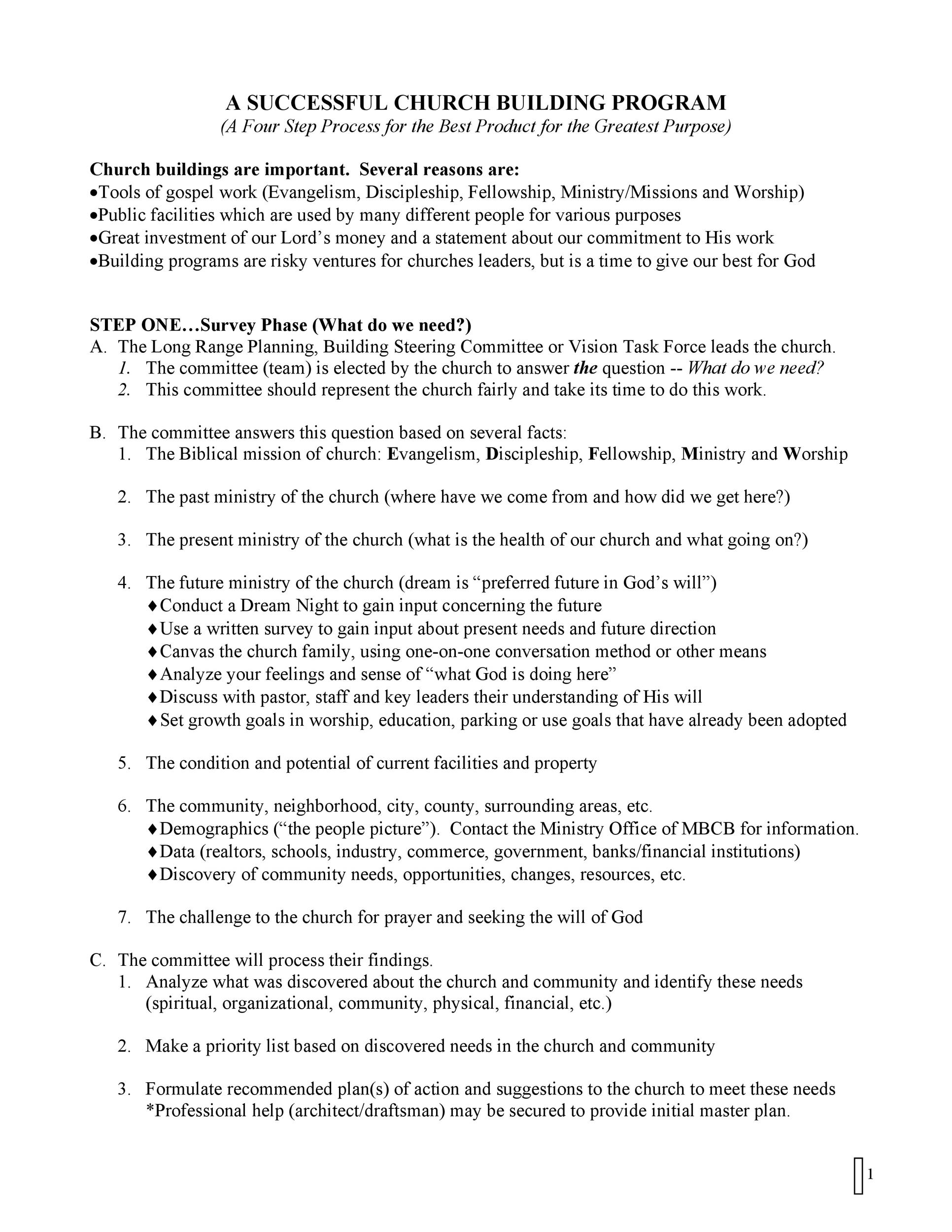 Free church bulletin templates 23