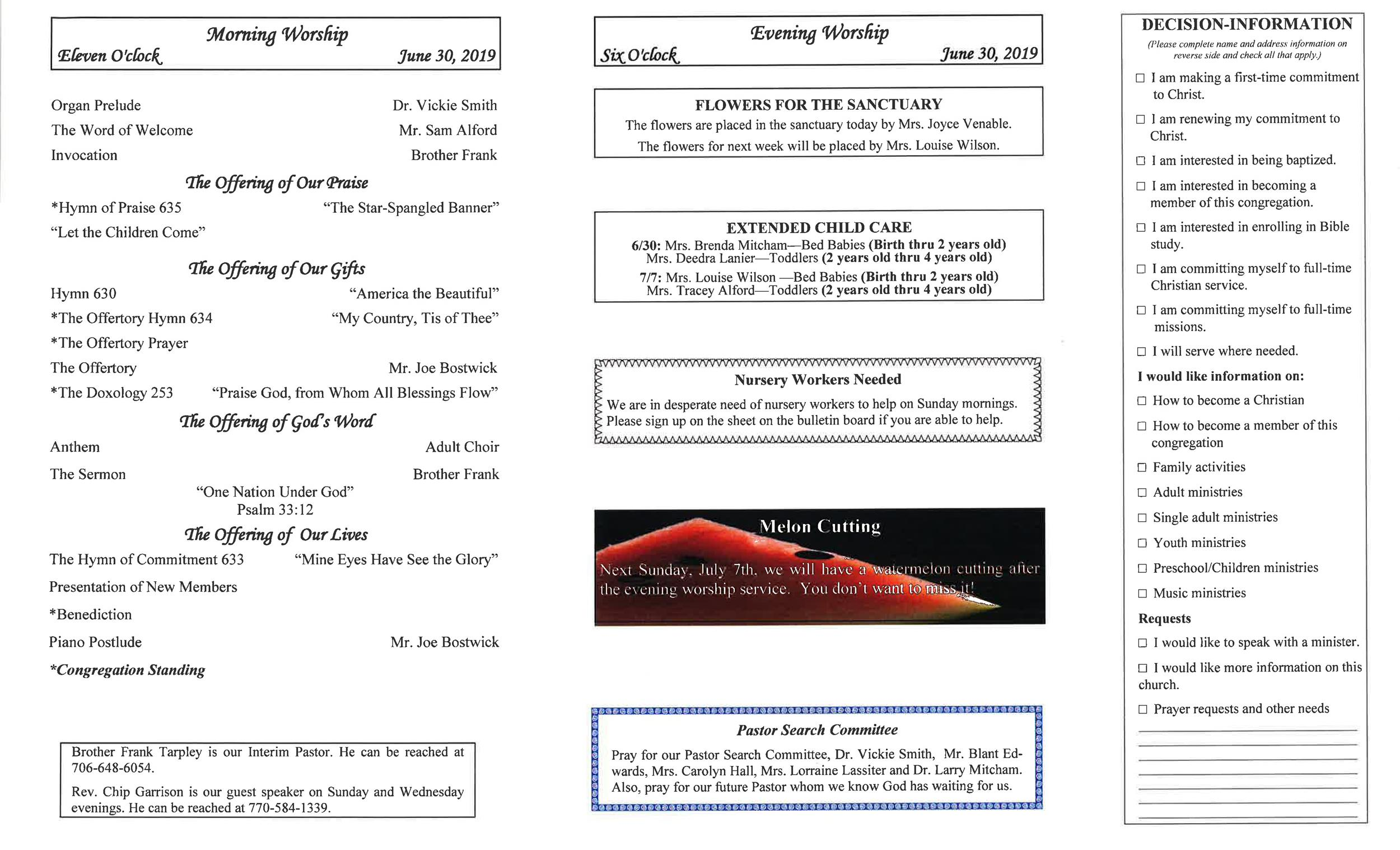 Free church bulletin templates 31