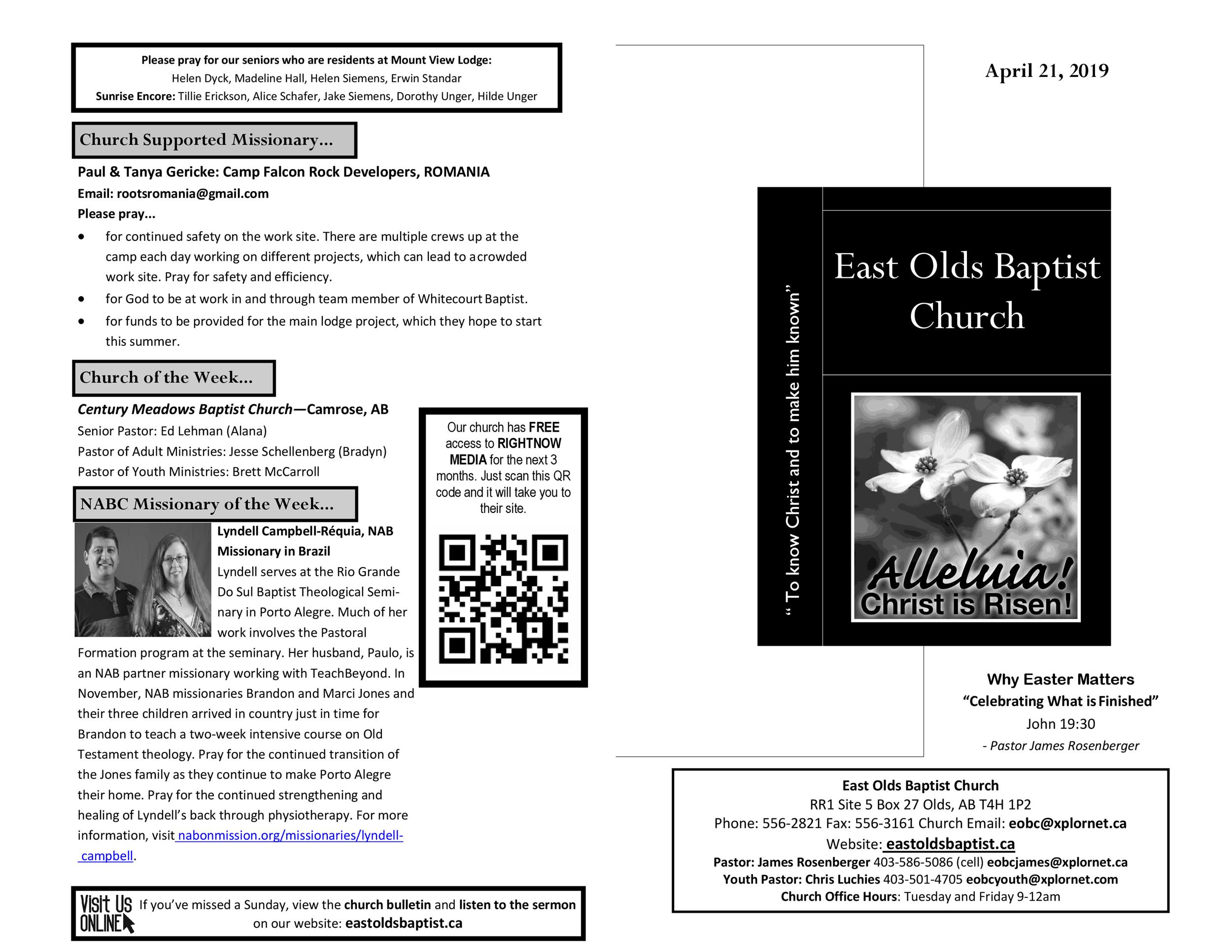 Free church bulletin templates 38