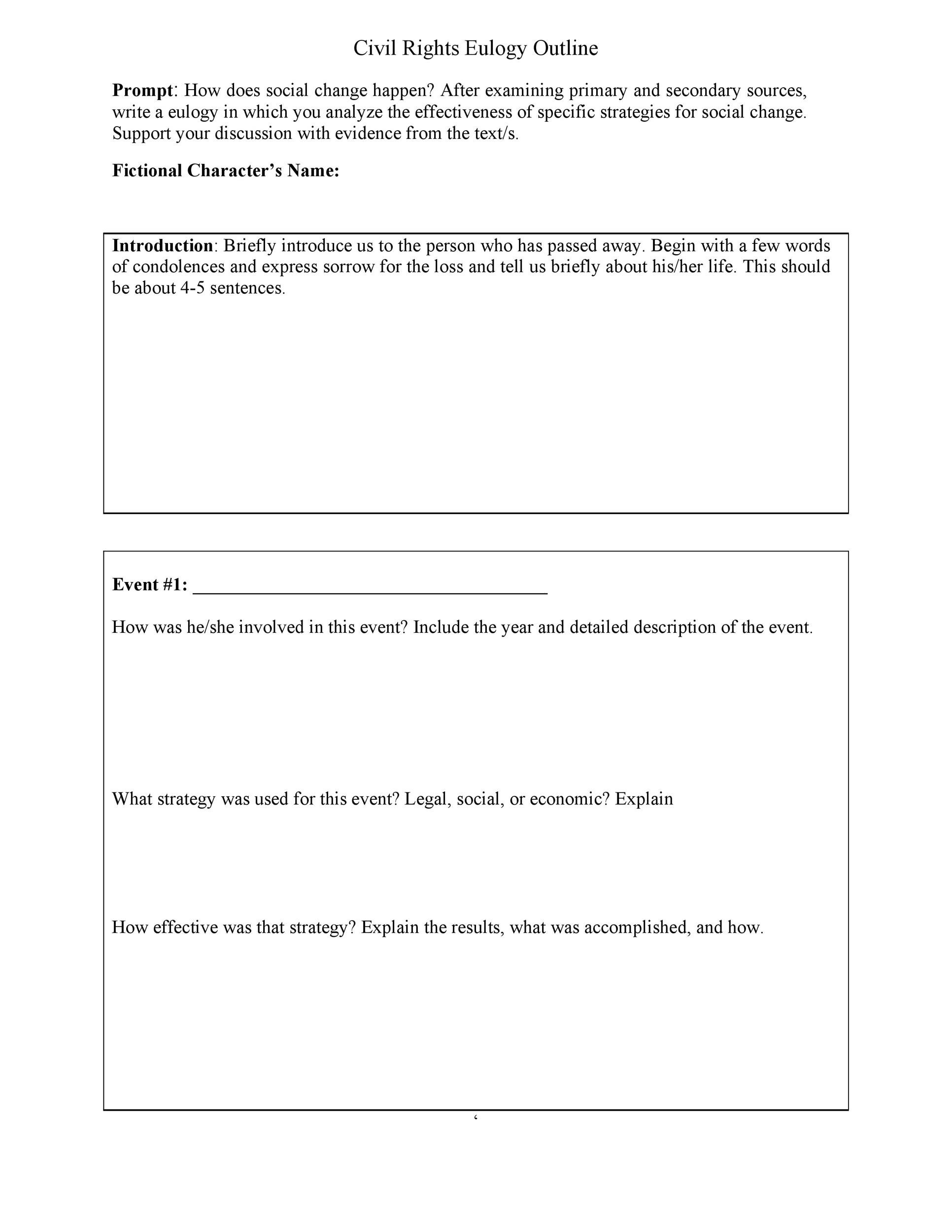 Free eulogy template 06