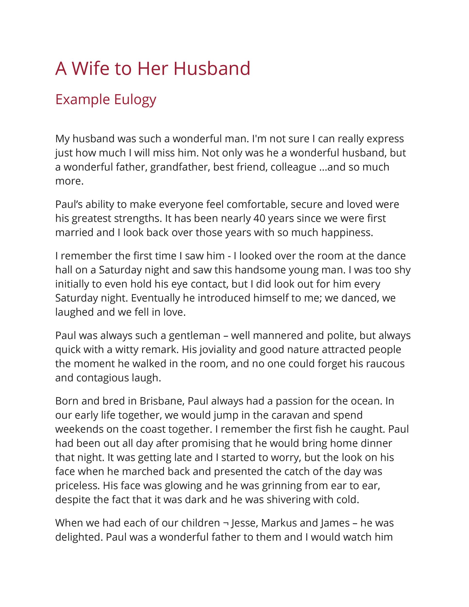 Free eulogy template 22