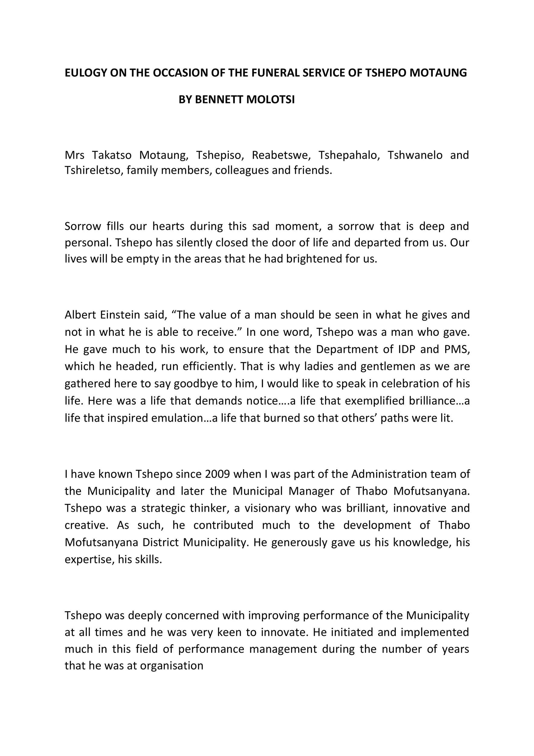 Free eulogy template 33