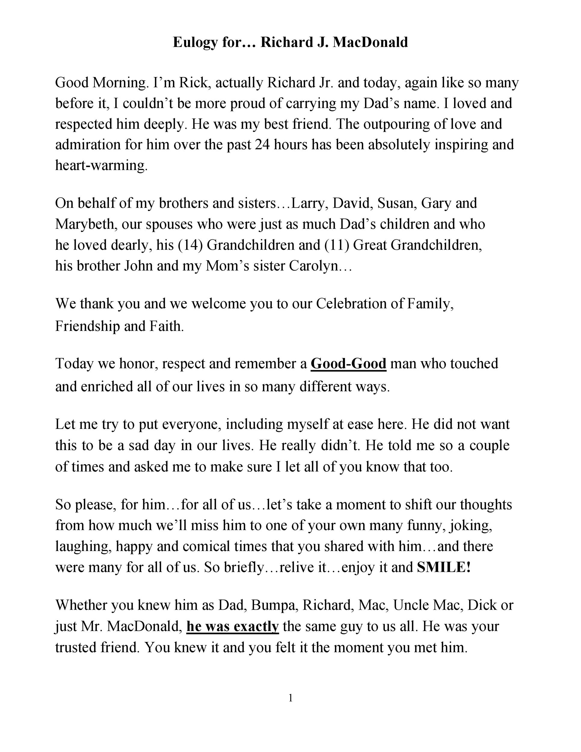 Free eulogy template 44