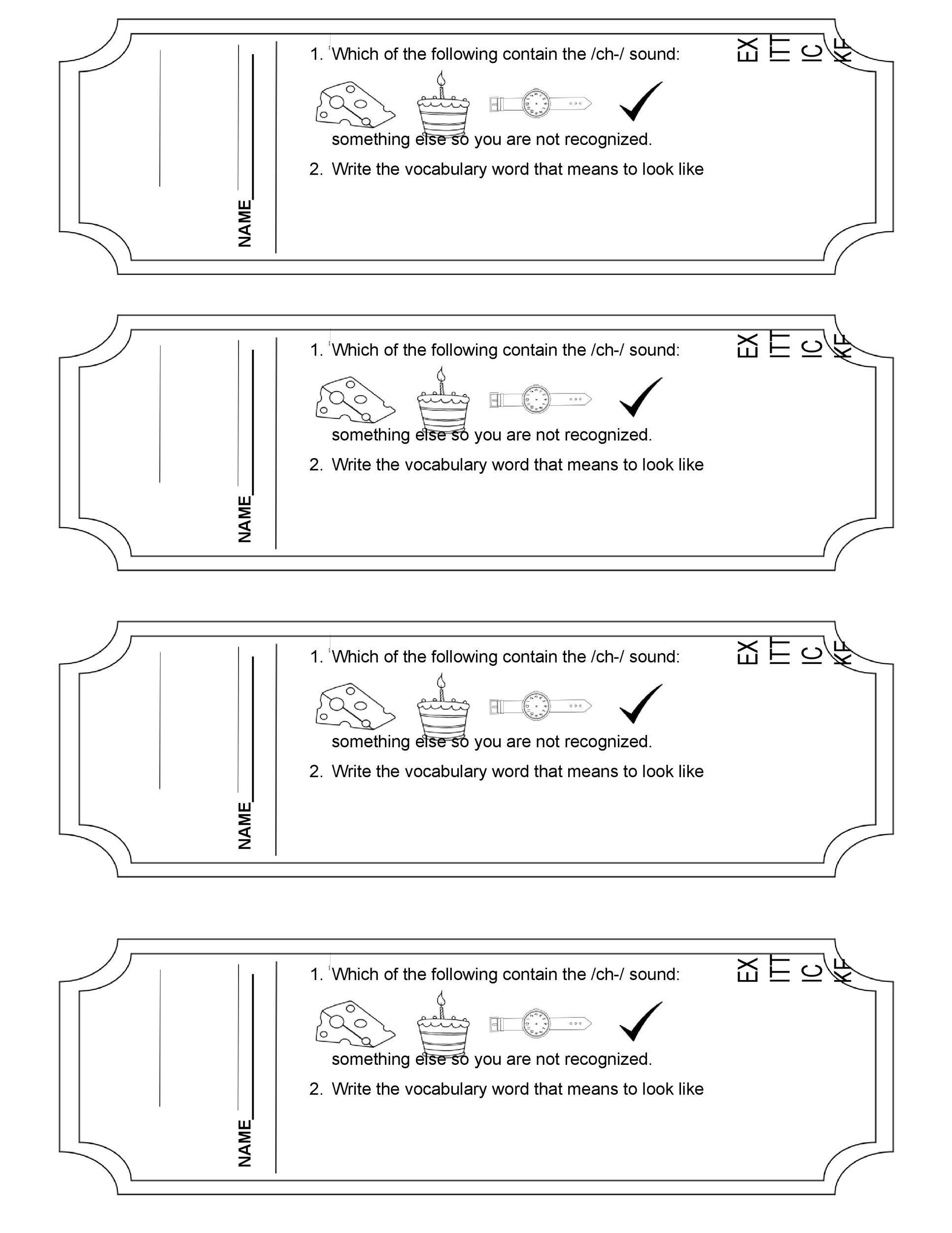 Free exit ticket template 01